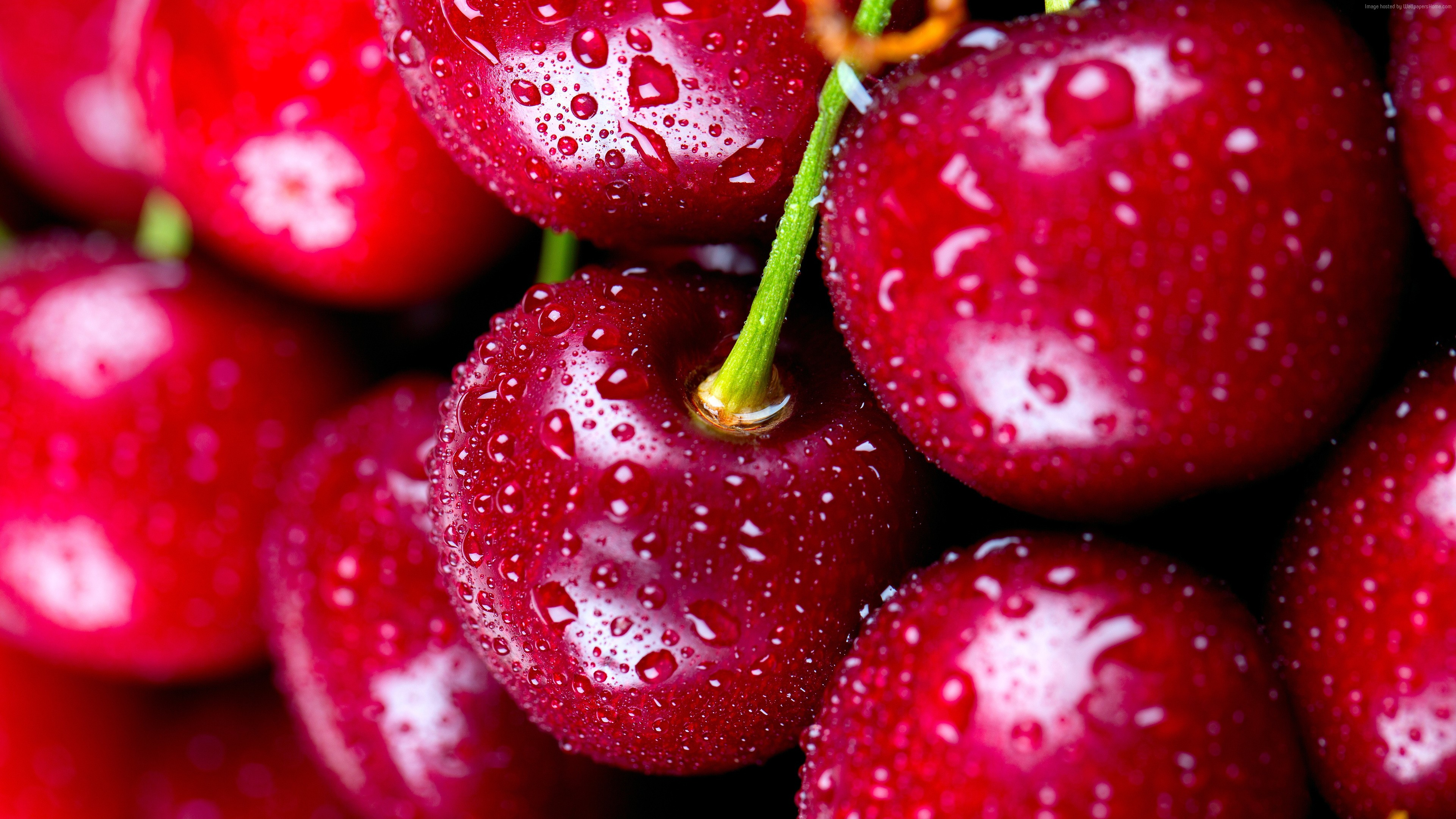Wallpaper cherries, delicious, 4k, Food