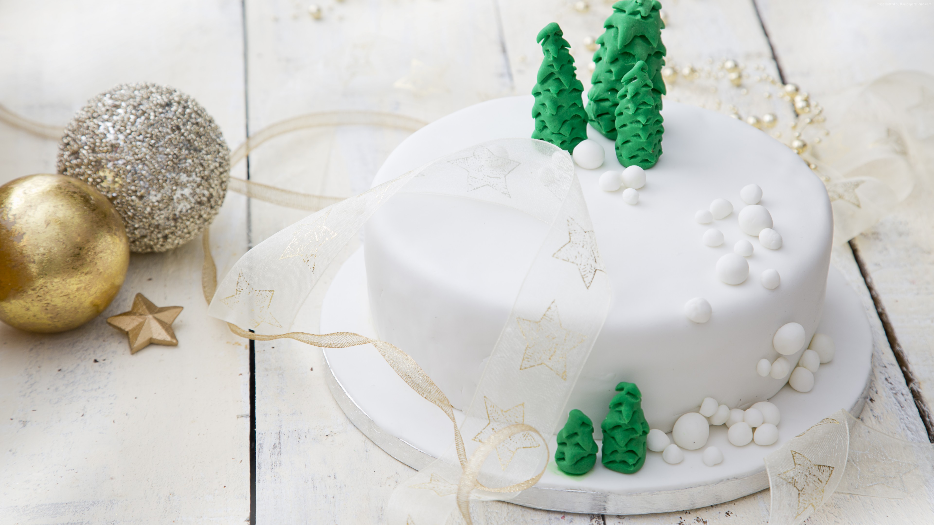 Wallpaper christmas cake, receipt, 5k, Food