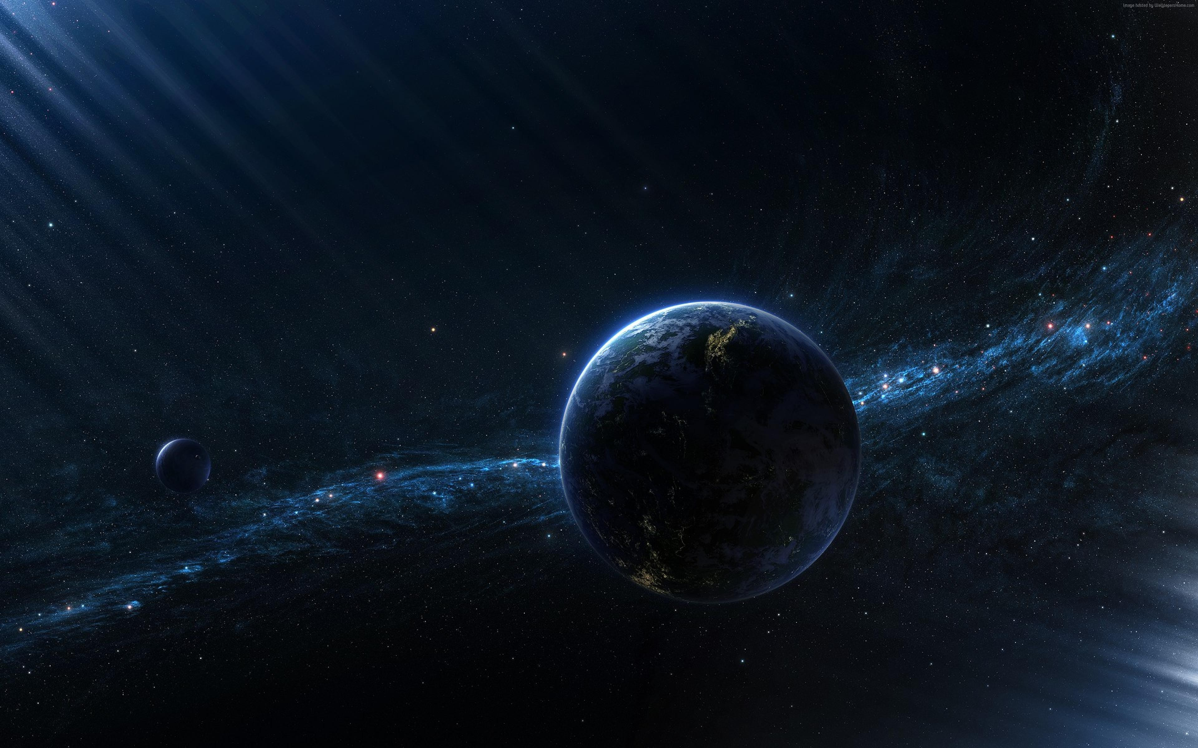 Wallpaper exoplanet, galaxy, space, stars, Space