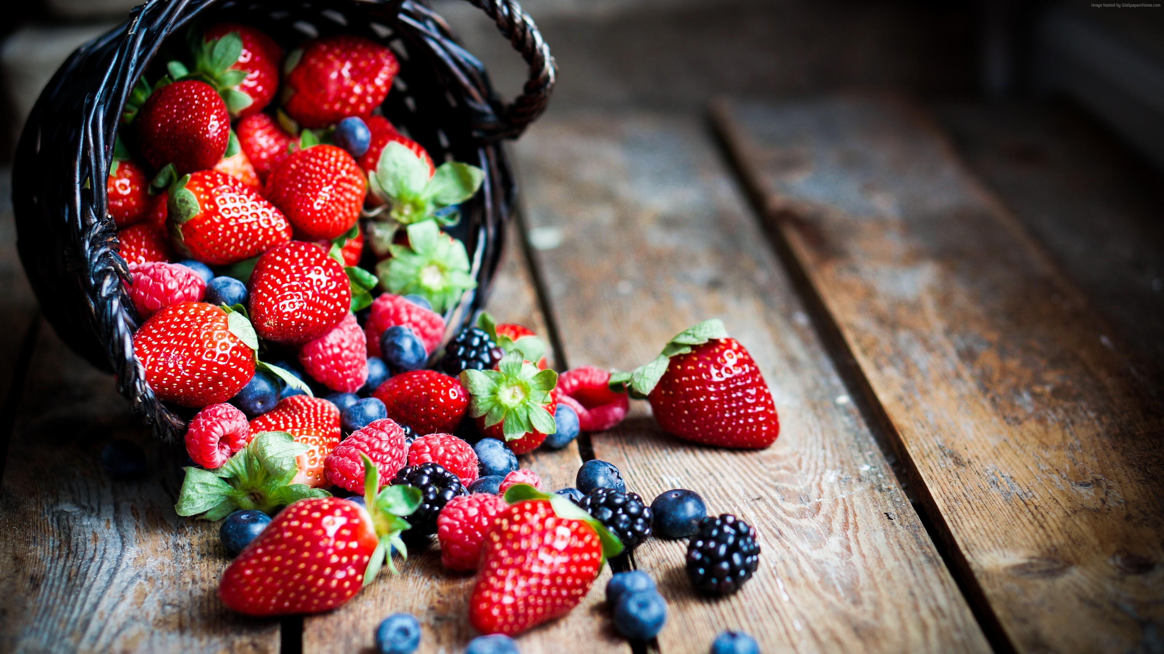 meilleures baskets 8c130 6fc0e Wallpaper food, fruit, summer, berries, strawberry ...
