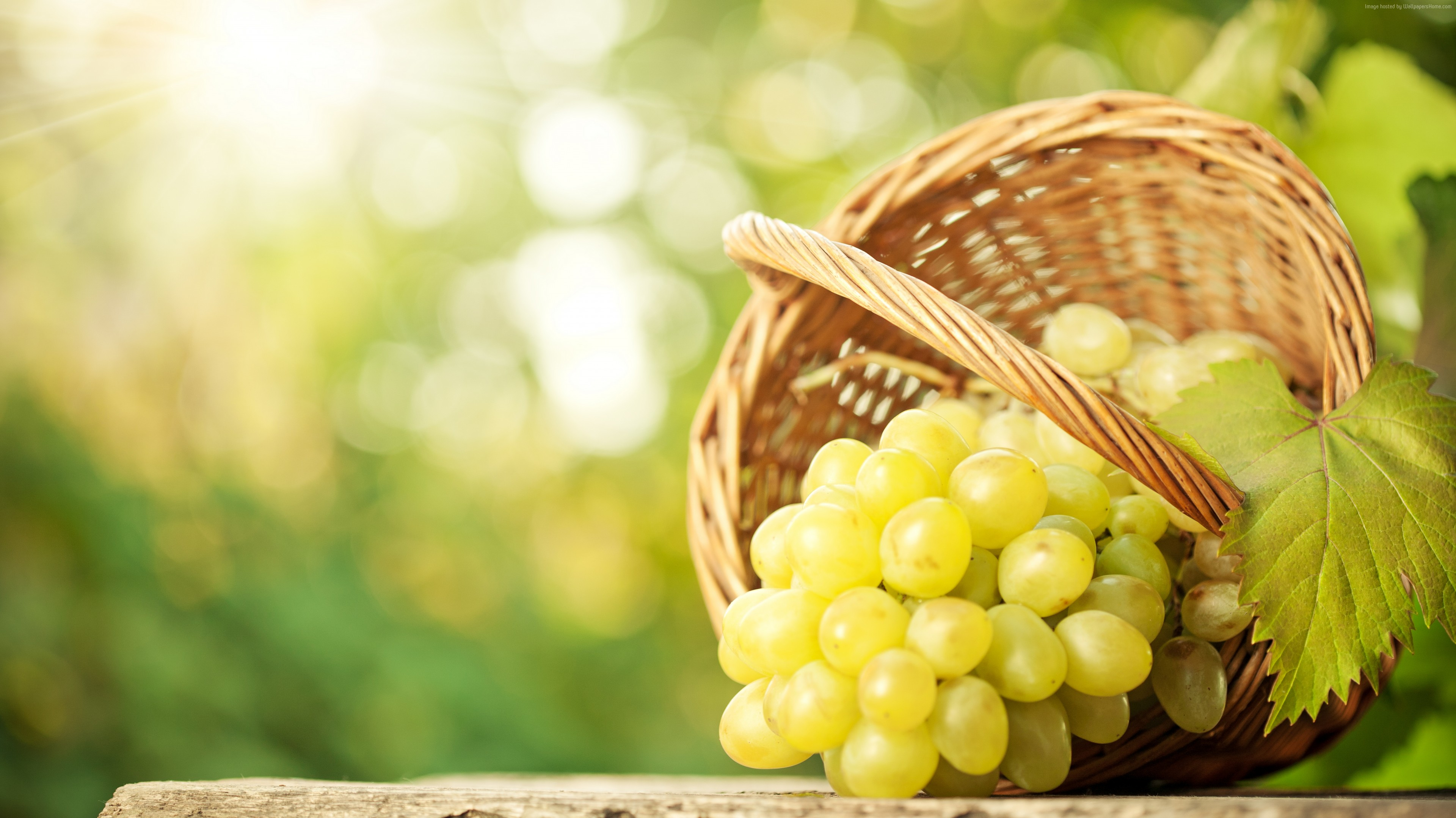 Wallpaper grapes, 8k, Food