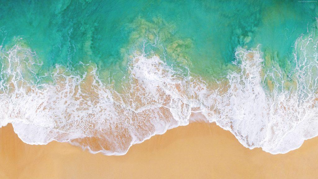 Wallpaper Ios 11 4k 5k Beach Ocean Abstract Wallpaper Download High Resolution 4k Wallpaper