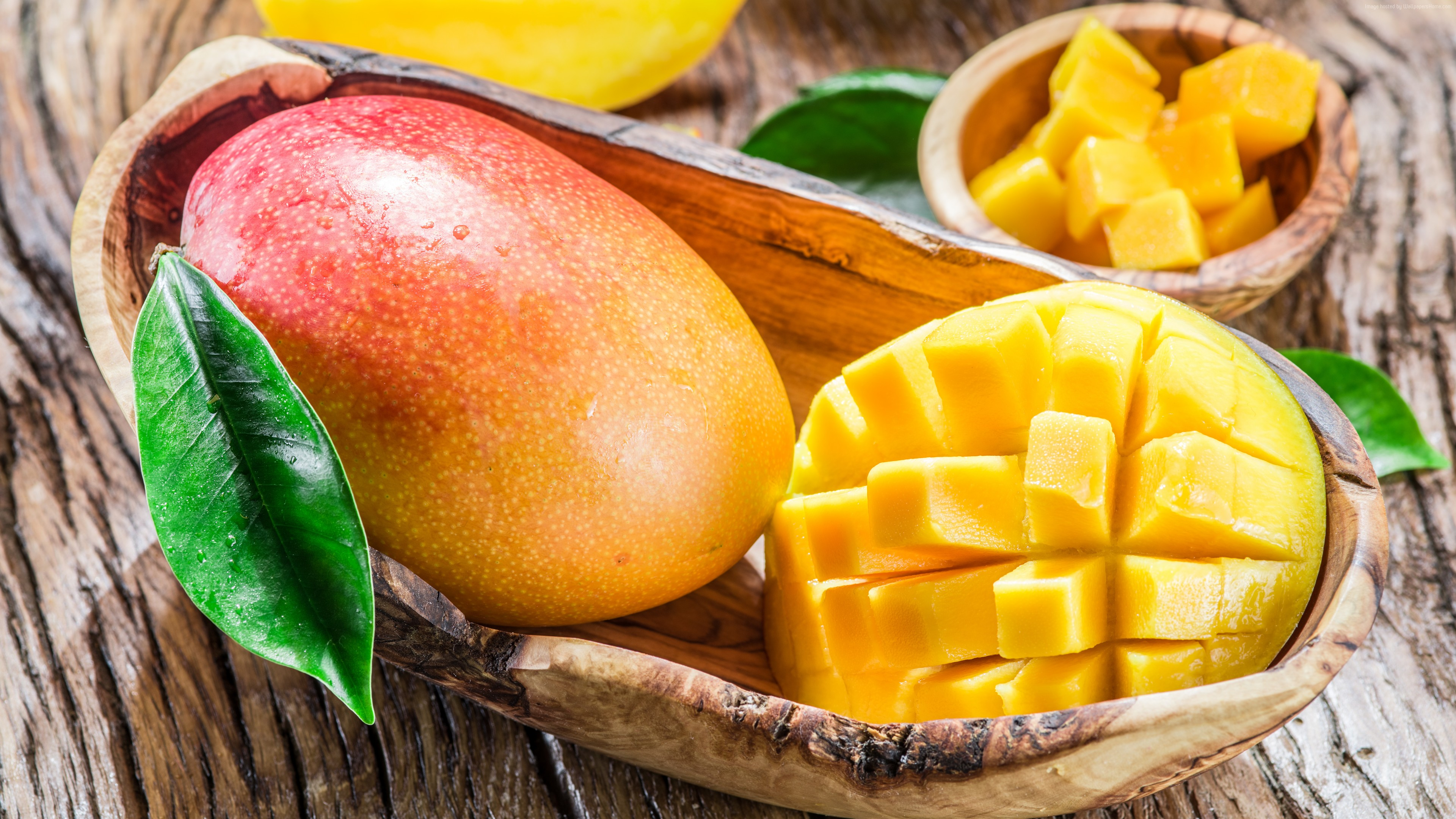 Wallpaper mango, fruit, 8k, Food