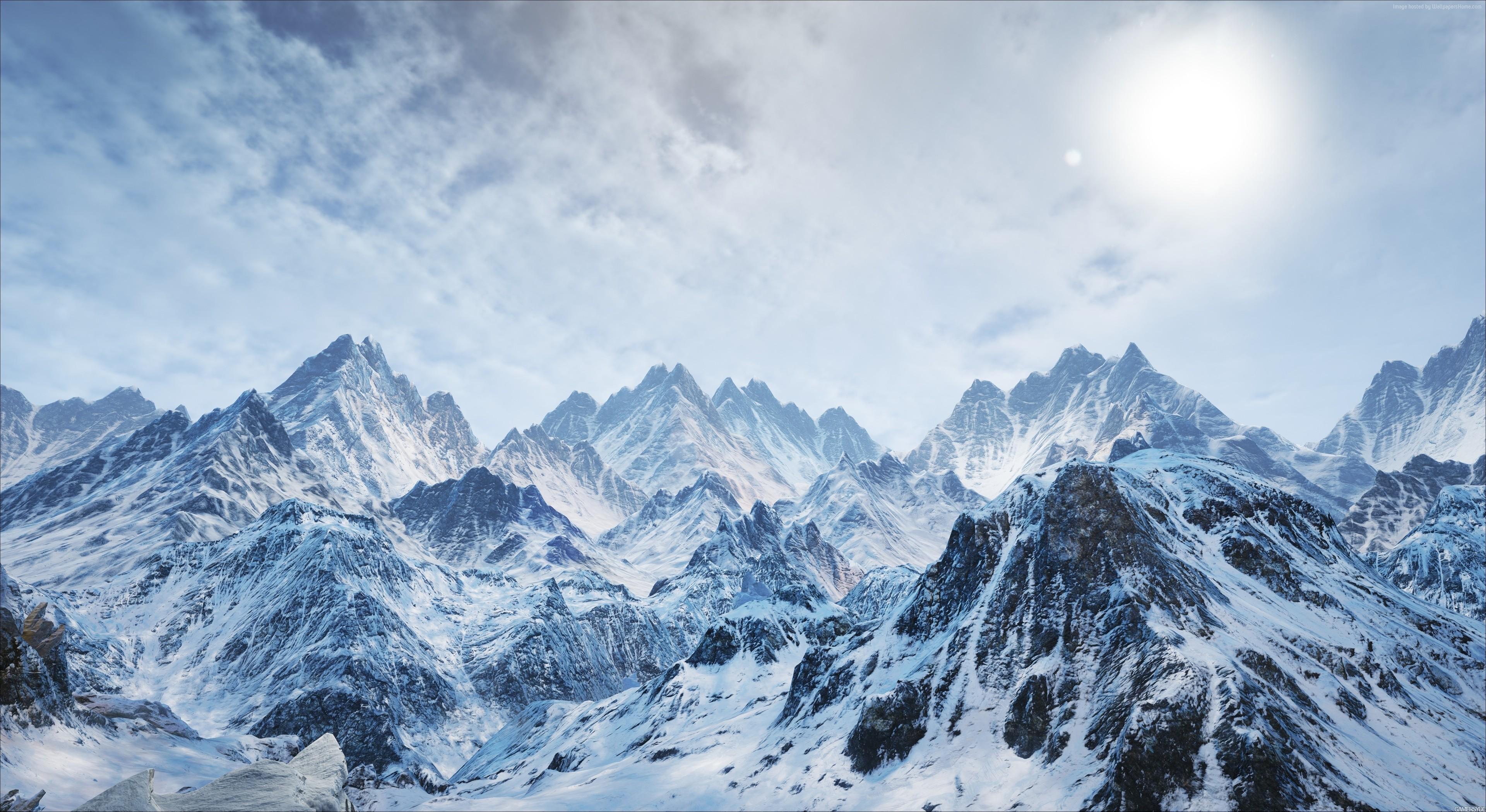 Wallpaper Mountains Snow Winter 4k Nature Wallpaper Download High Resolution 4k Wallpaper