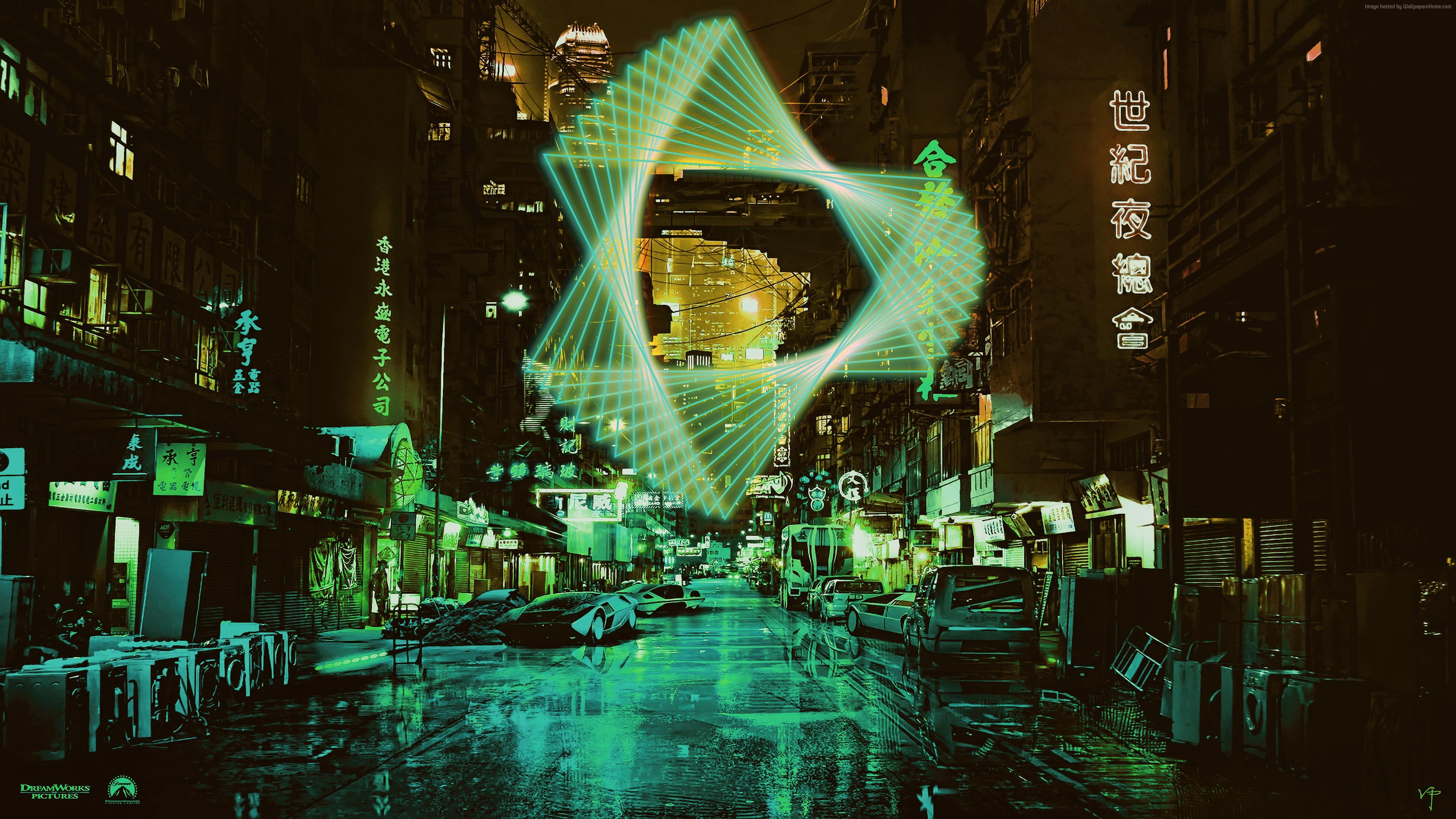 Wallpaper Neon Night Green 4K Art 4k Download