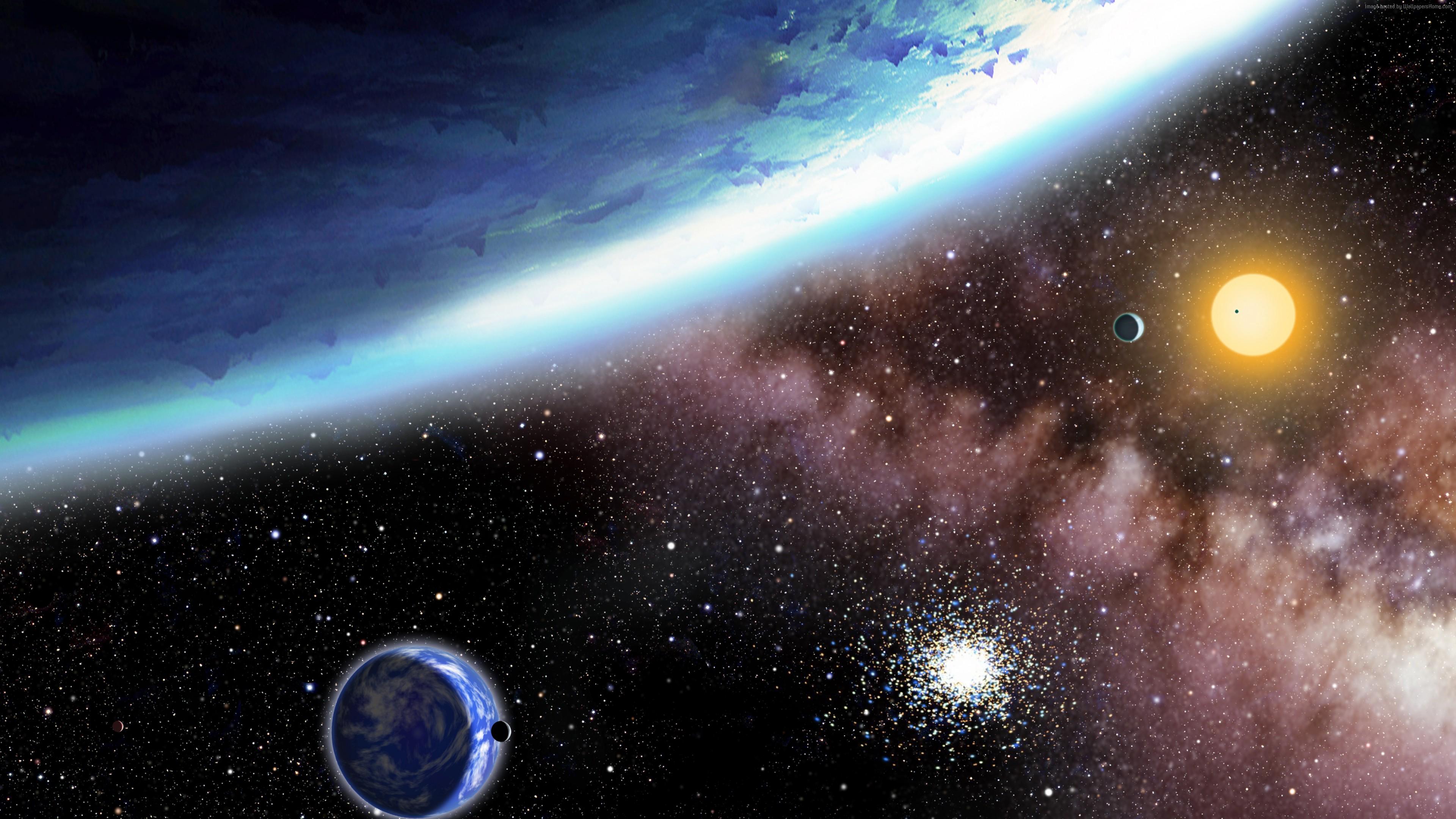Wallpaper planet, stars, galaxy, 4k, Space Wallpaper ...