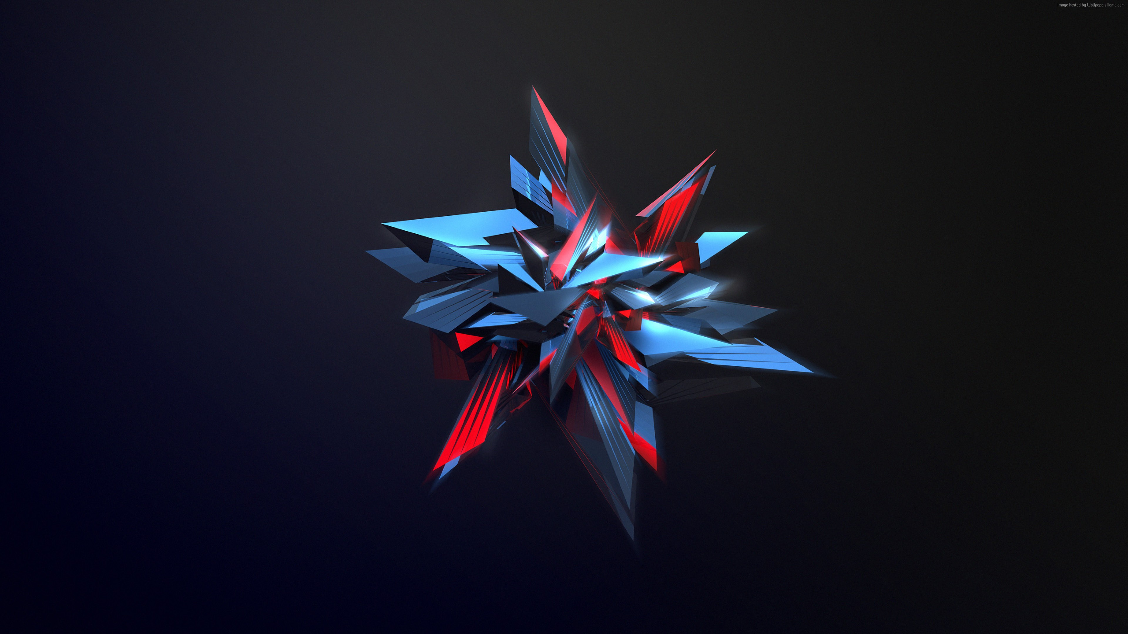 Wallpaper polygon, 4k, HD wallpaper, 3d, Abstract