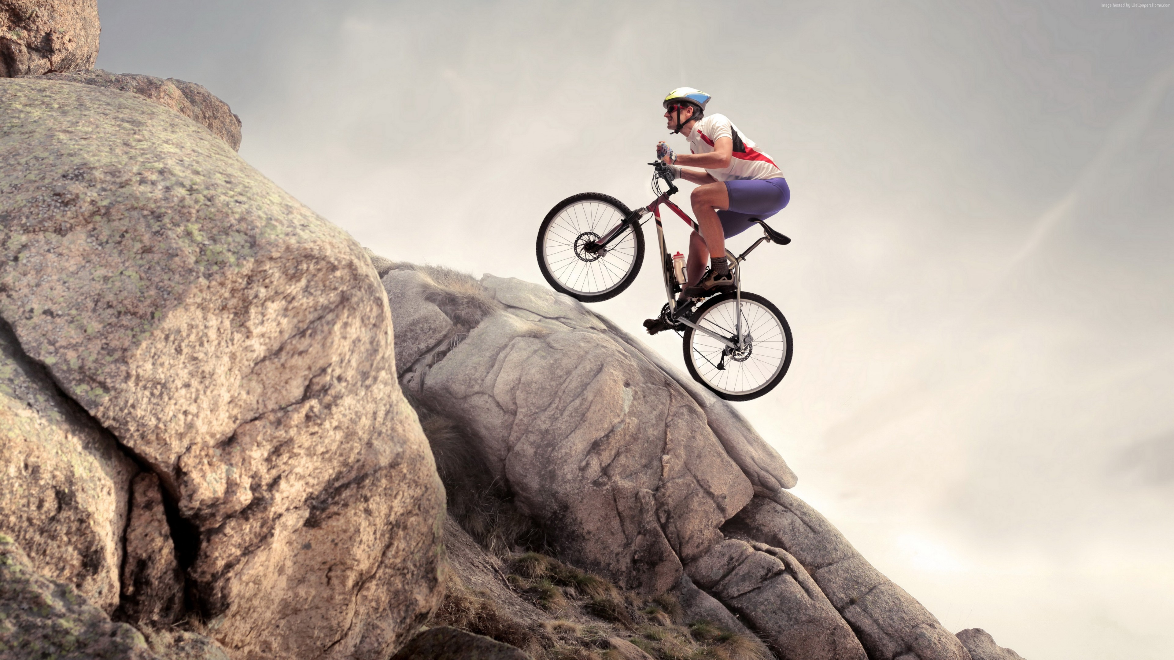 Wallpaper Rock Climbing Cycle Extreme Sport Wallpaper