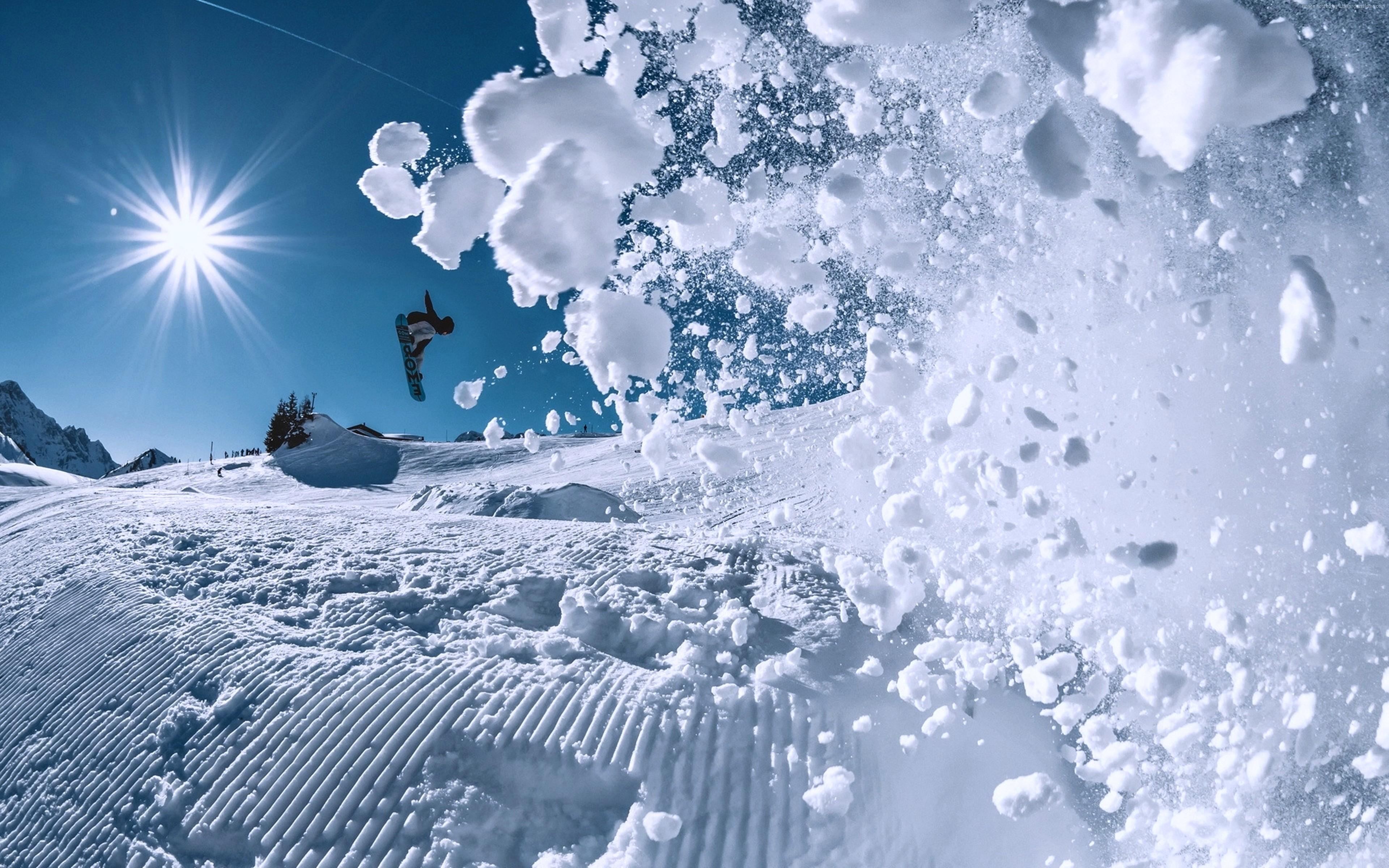 Wallpaper Snowboarding Winter Snow 4k Sport Wallpaper Download High Resolution 4k Wallpaper