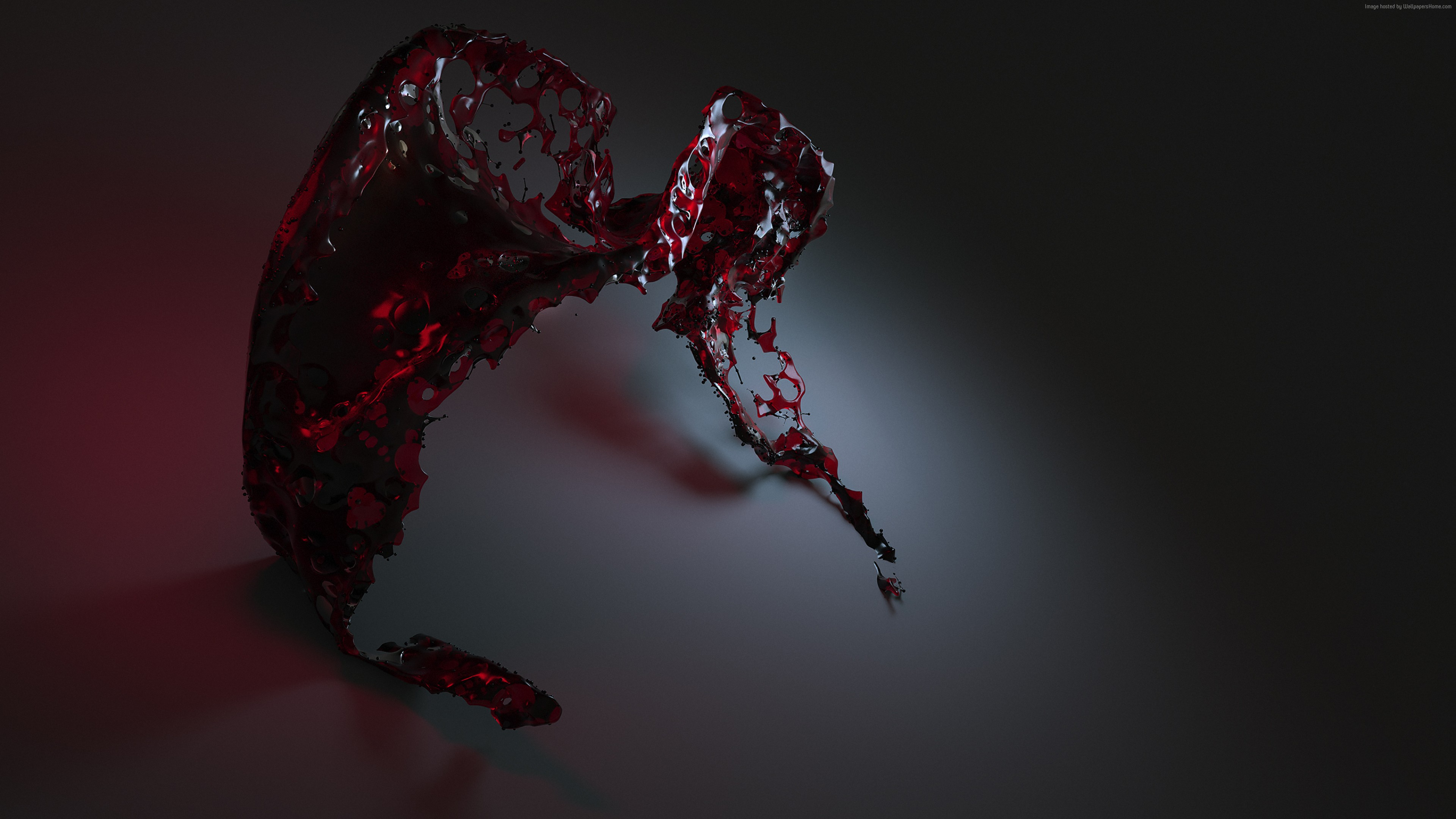 Wallpaper water, 3D, red, , HD, Abstract