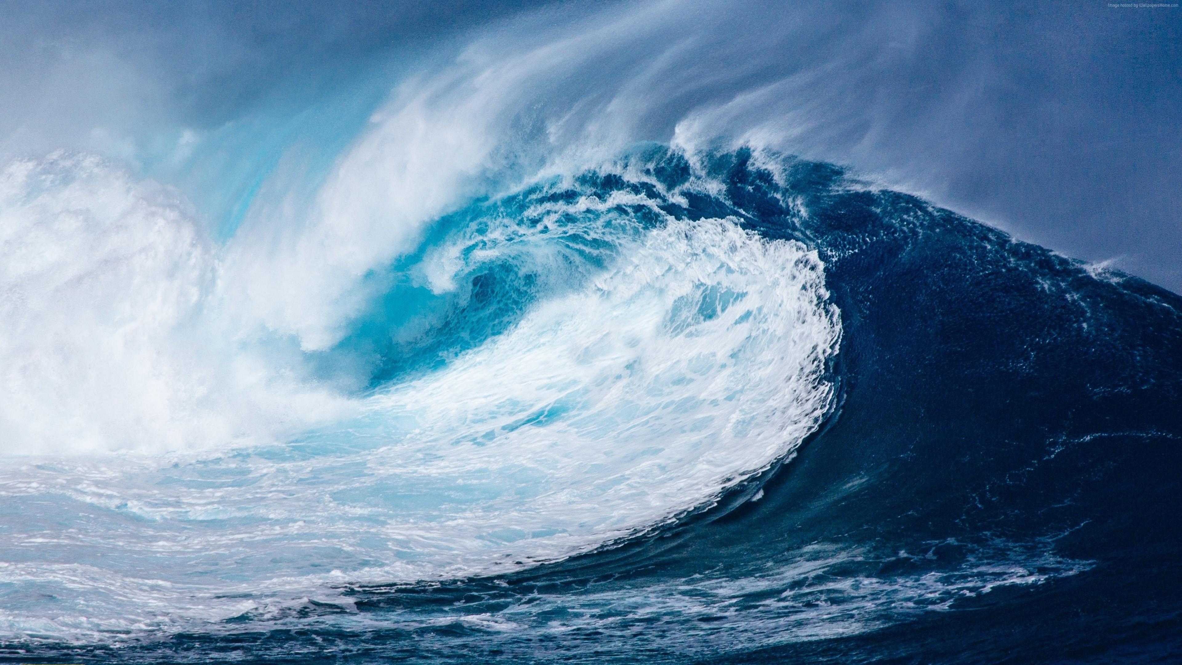wallpaper wave, ocean, 4k, nature 4k, ocean, wave wallpaper download