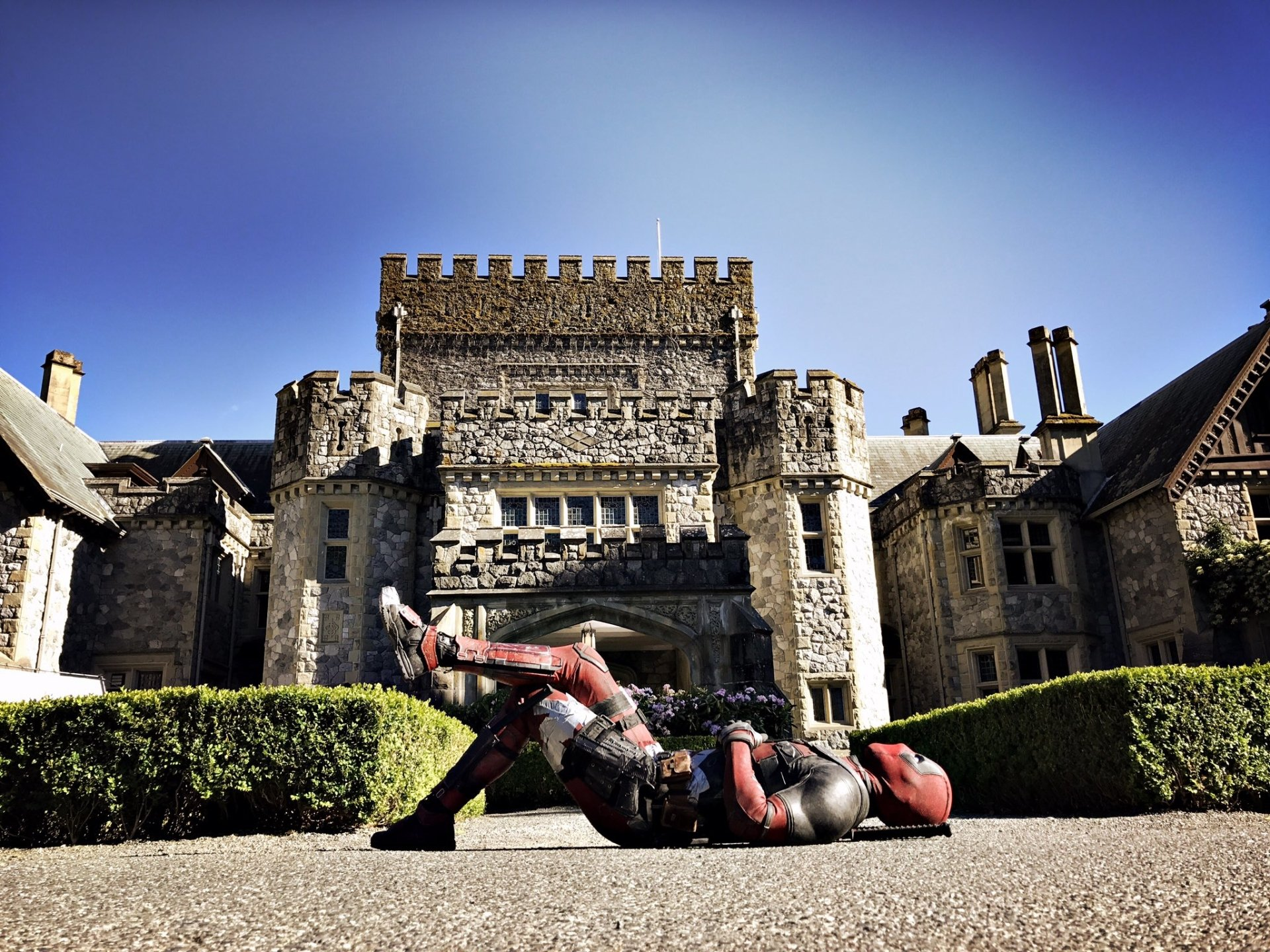 X Mansion Full HD Background Image Deadpool