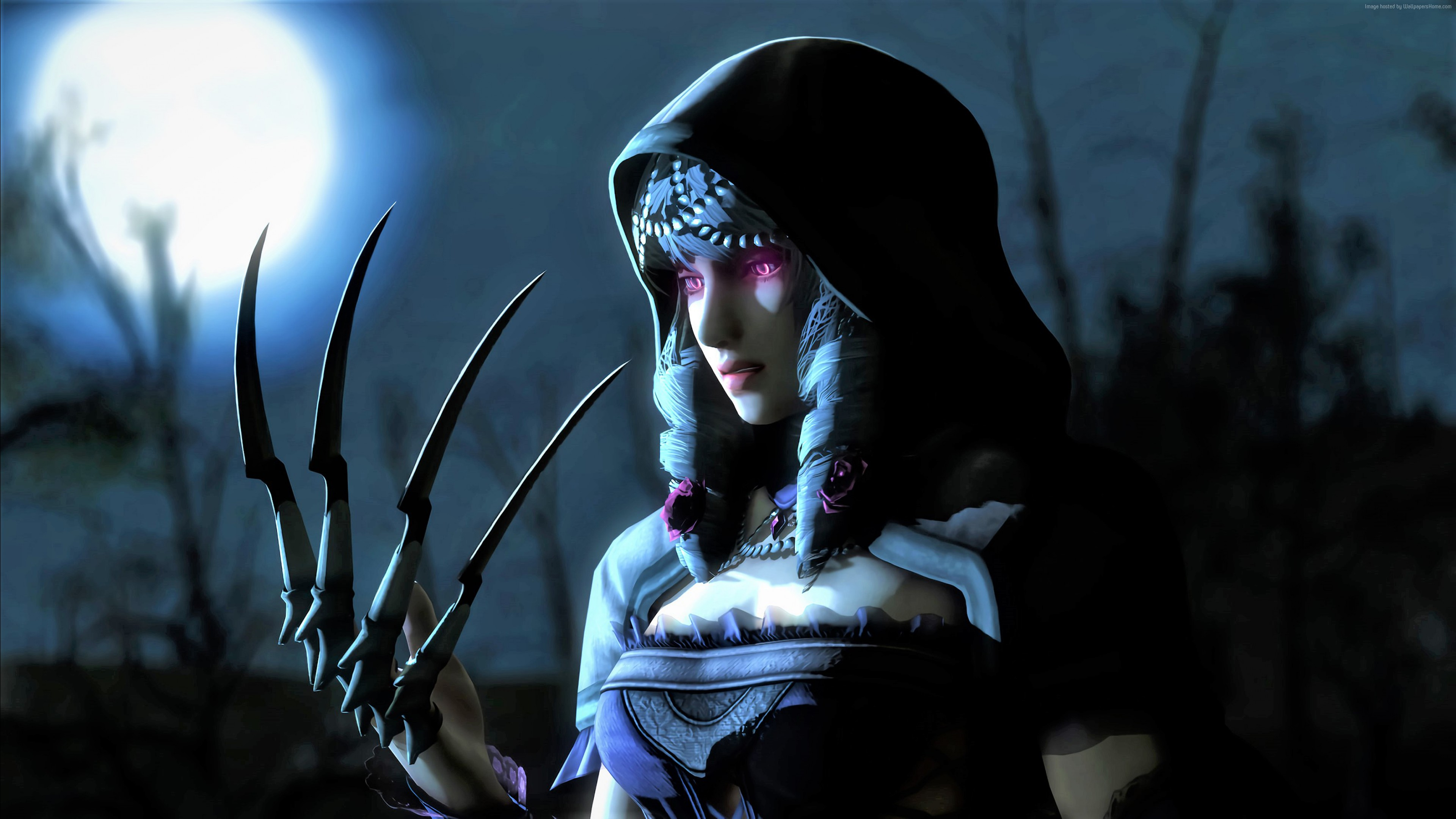 Wallpaper Warrior Girl Dark 4k Art Wallpaper Download