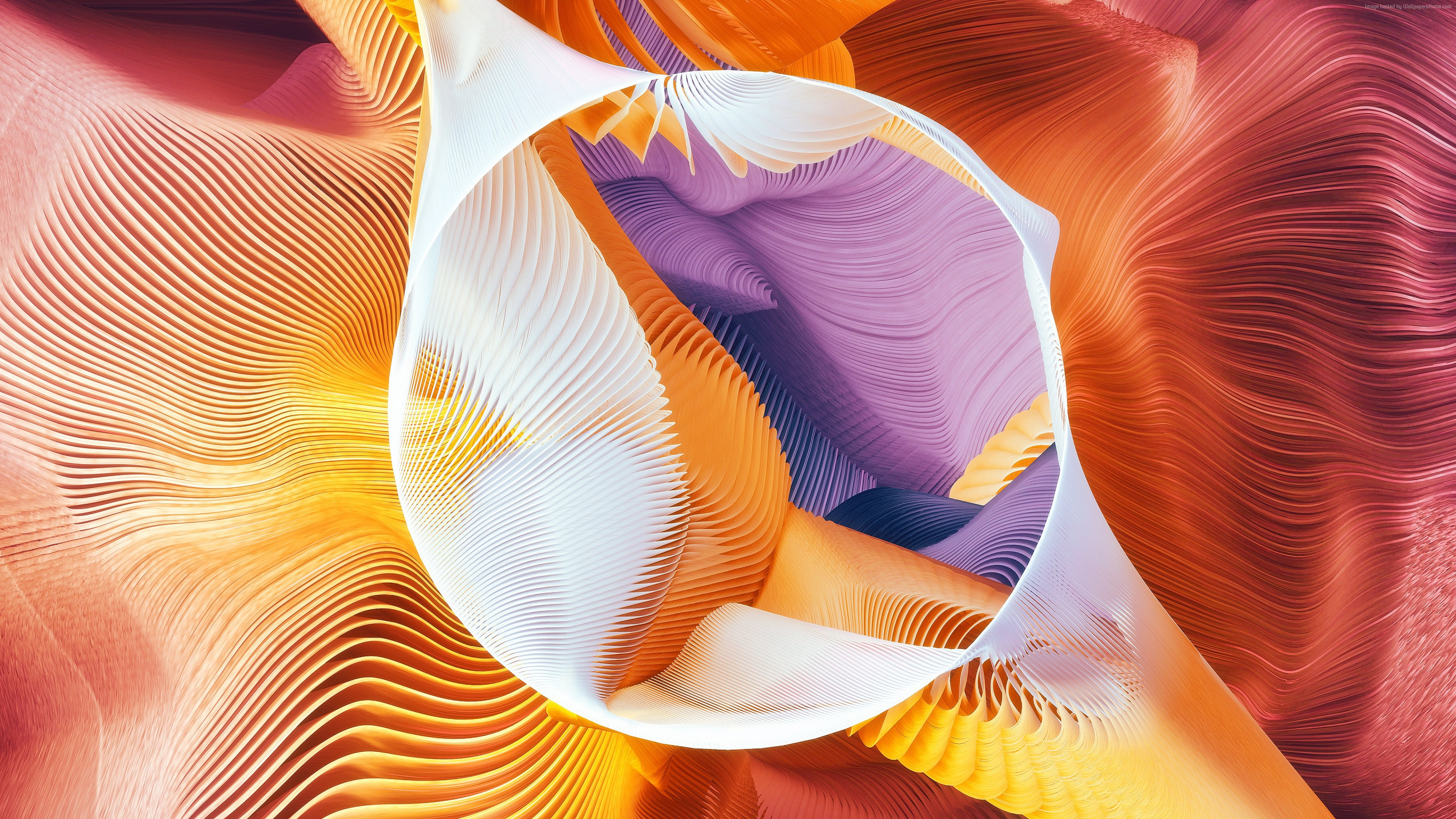 Wallpaper circle, abstract, 3D, colorful, Abstract