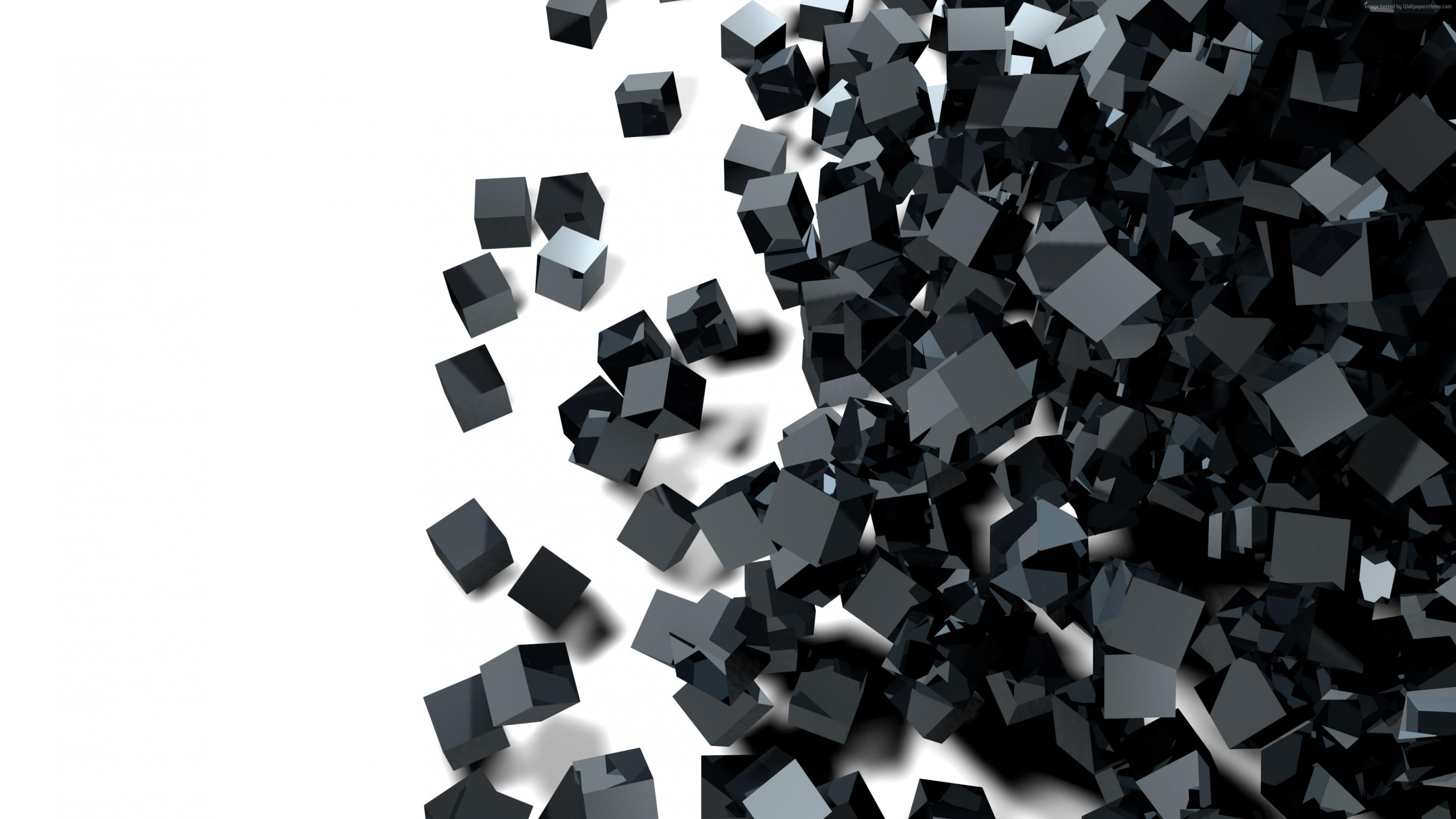 Wallpaper Cube Glass Black 3d 4k Abstract Wallpaper Download High Resolution 4k Wallpaper,Best Indoor Plants For Oxygen Nasa