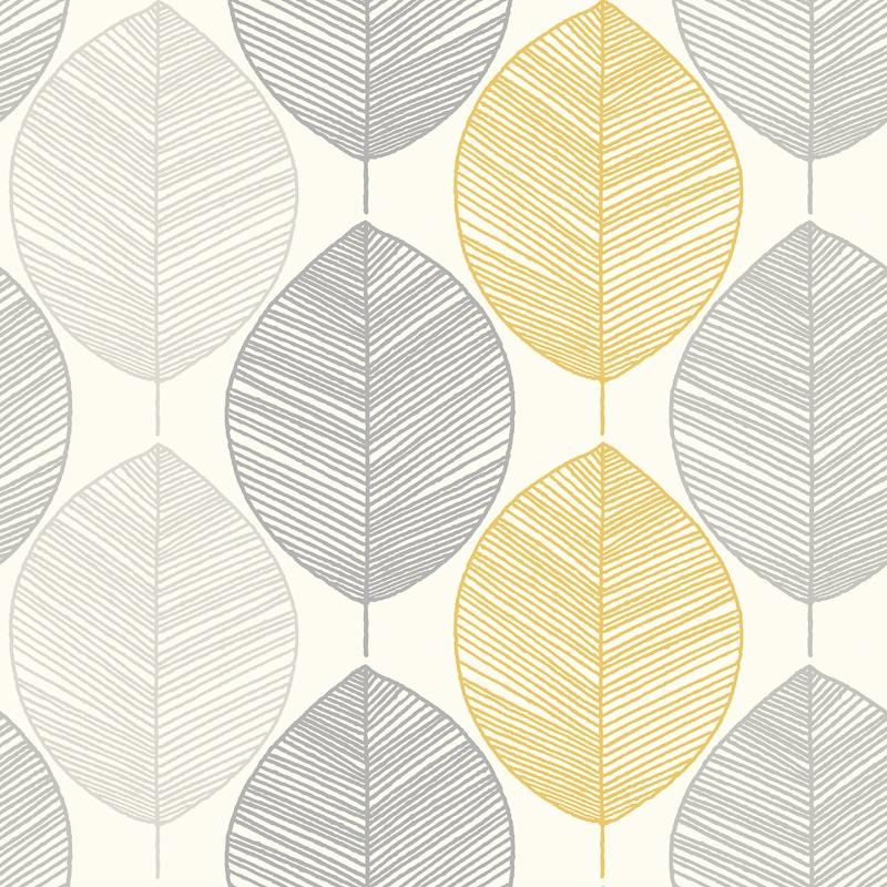 Arthouse Scandi Leaf Yellow