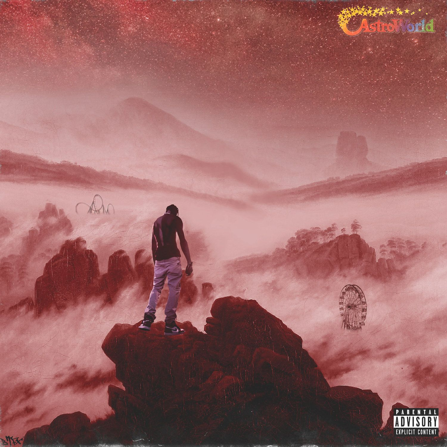 Astroworld Travis Scott wall