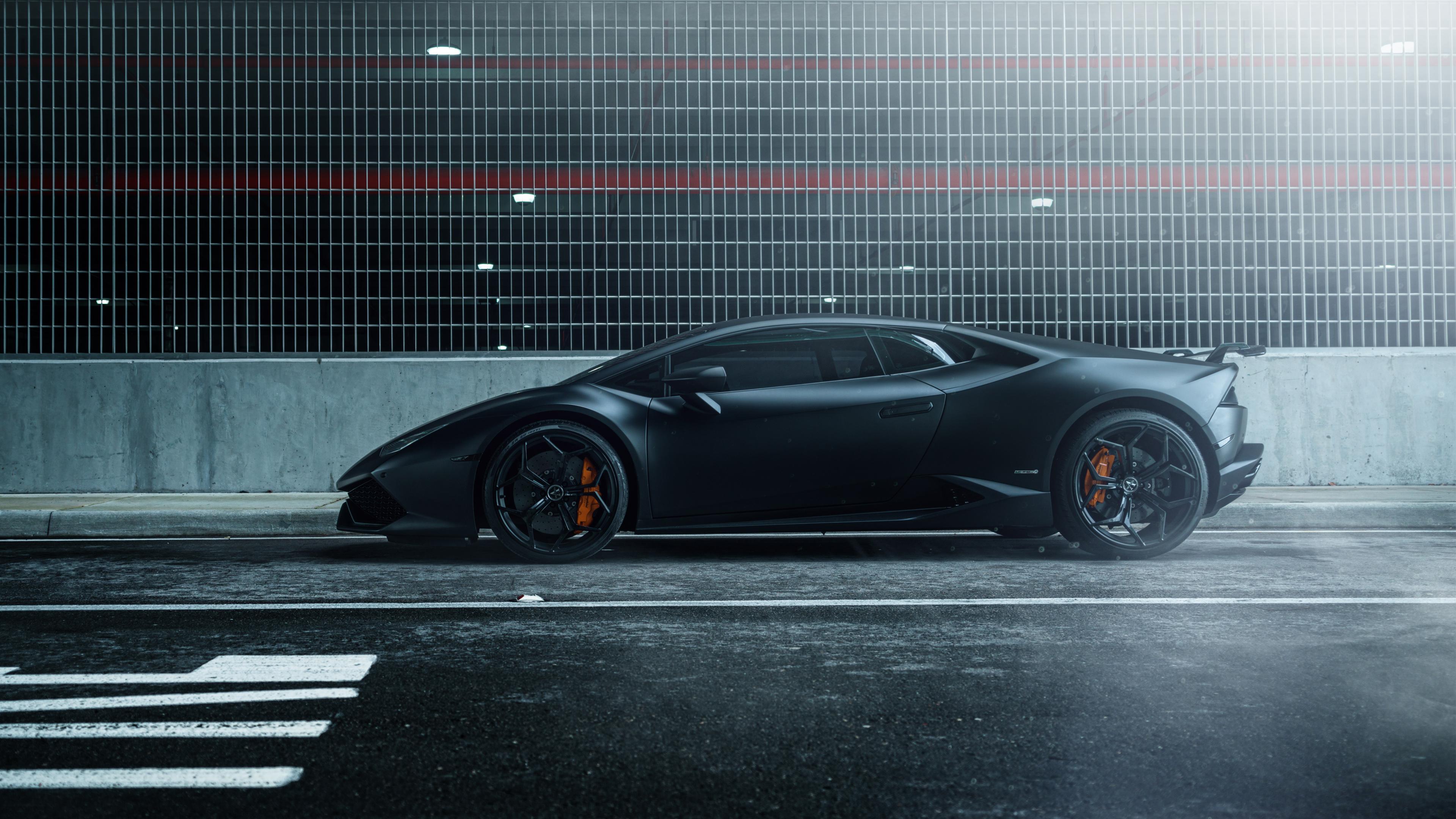 Lamborghini Huracan Vellano MC Matte Black 4K