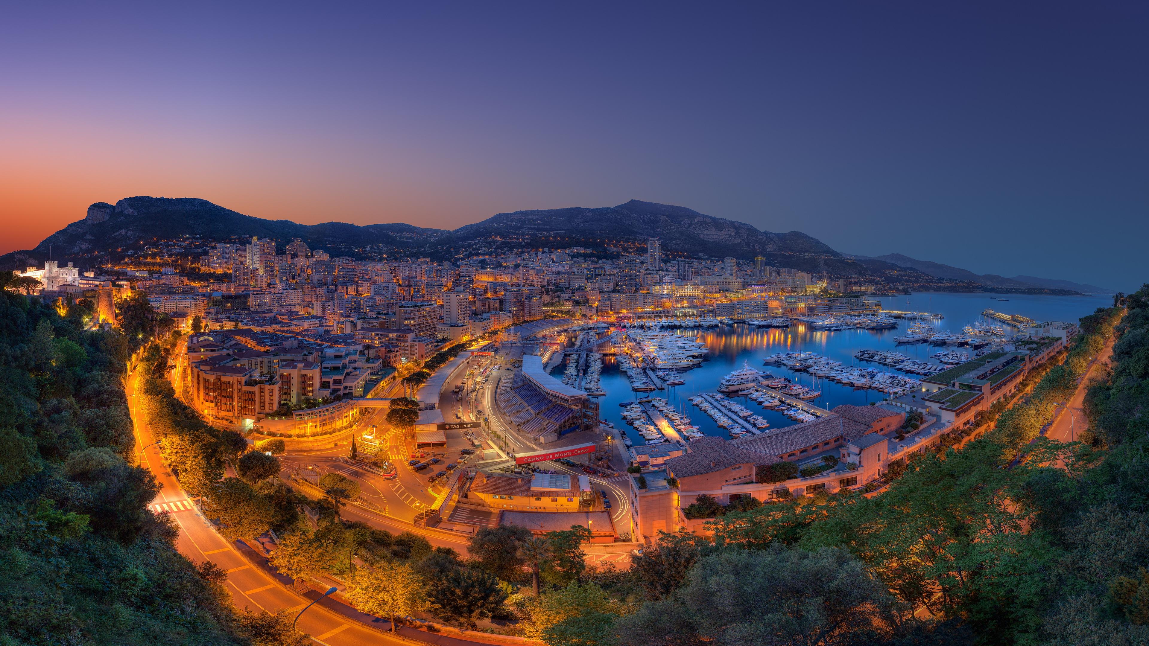 Monte Carlo Yachts Port Panorama 4K Ultra HD Desktop Wallpaper