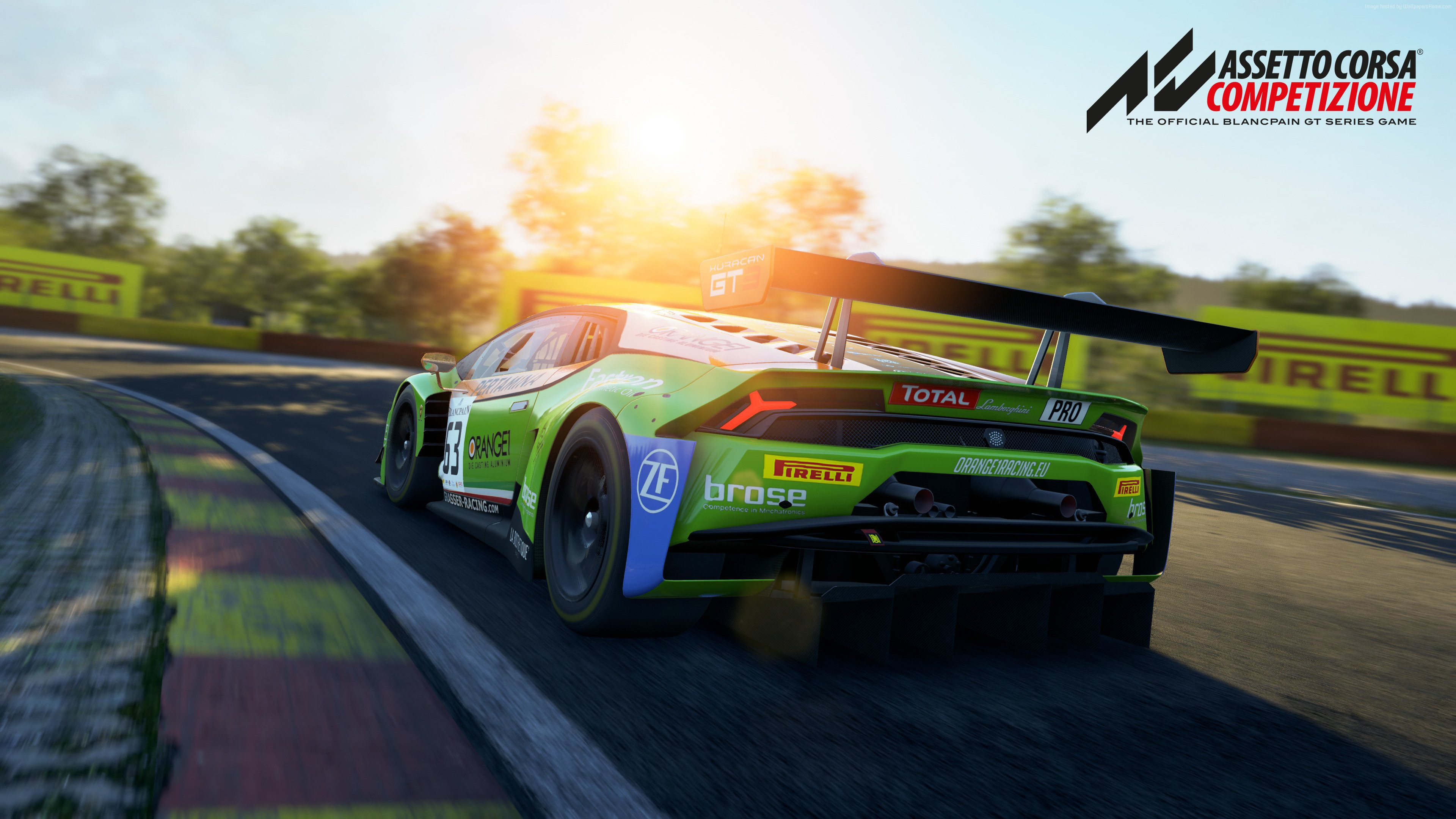 Wallpaper Assetto Corsa Competizione, screenshot, 4K, Games