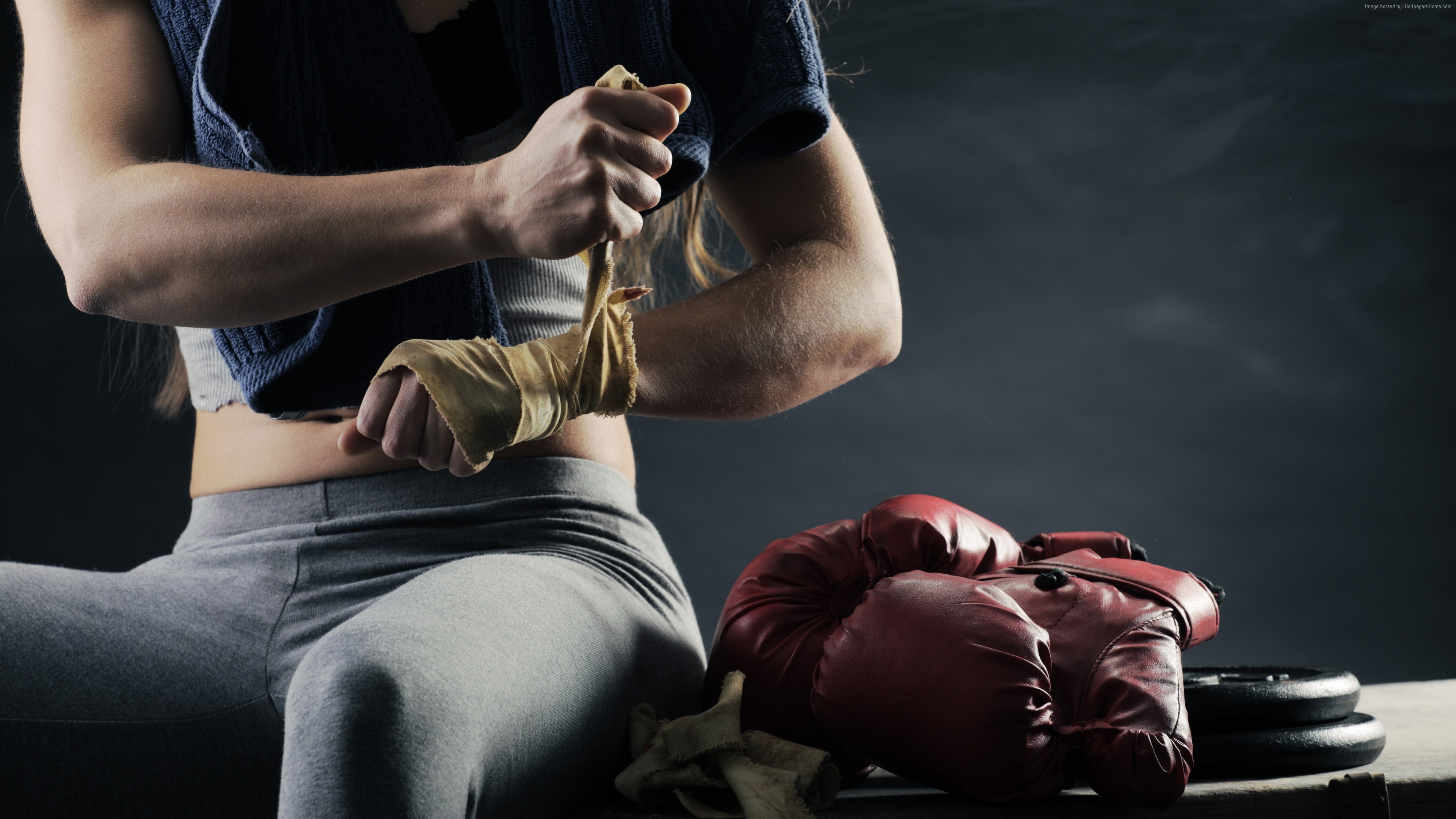 Wallpaper Boxing gloves, boxing, 4K, Sport
