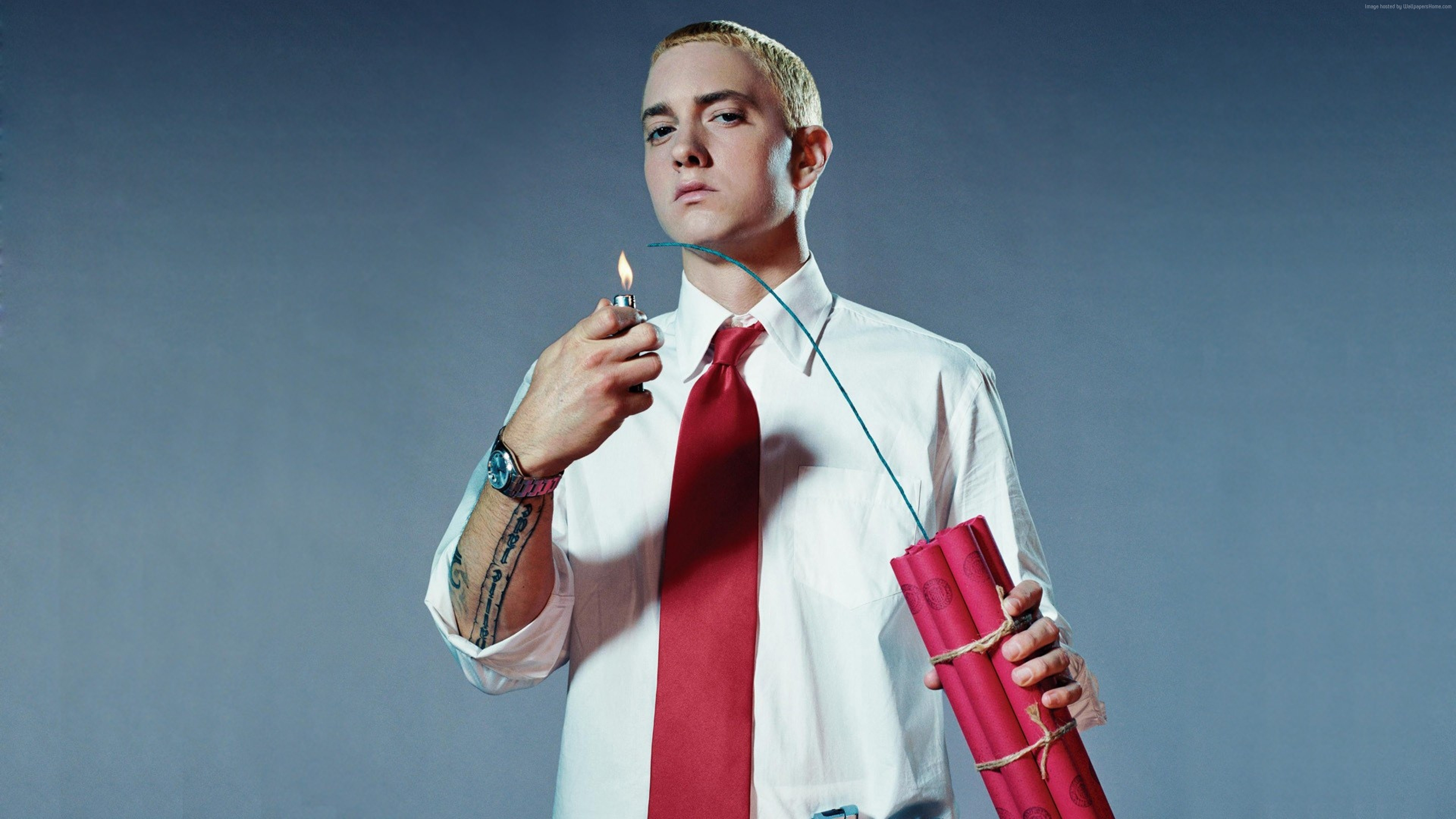 Wallpaper Eminem, singer, rapper, actor, 4K, Celebrities