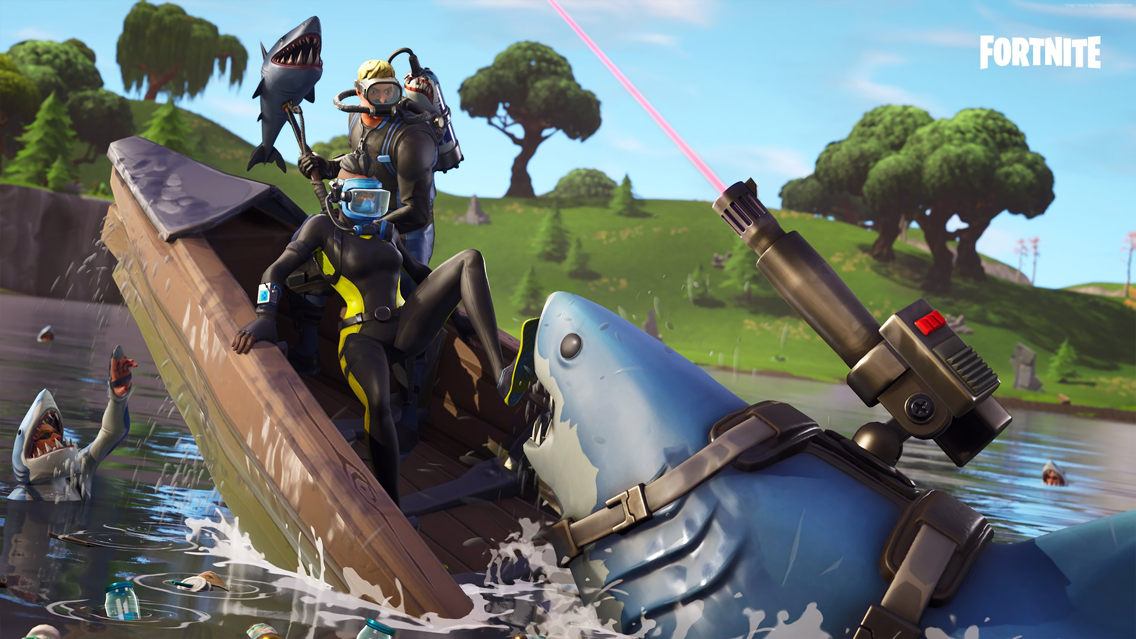 Wallpaper Fortnite, screenshot, 4K, Games