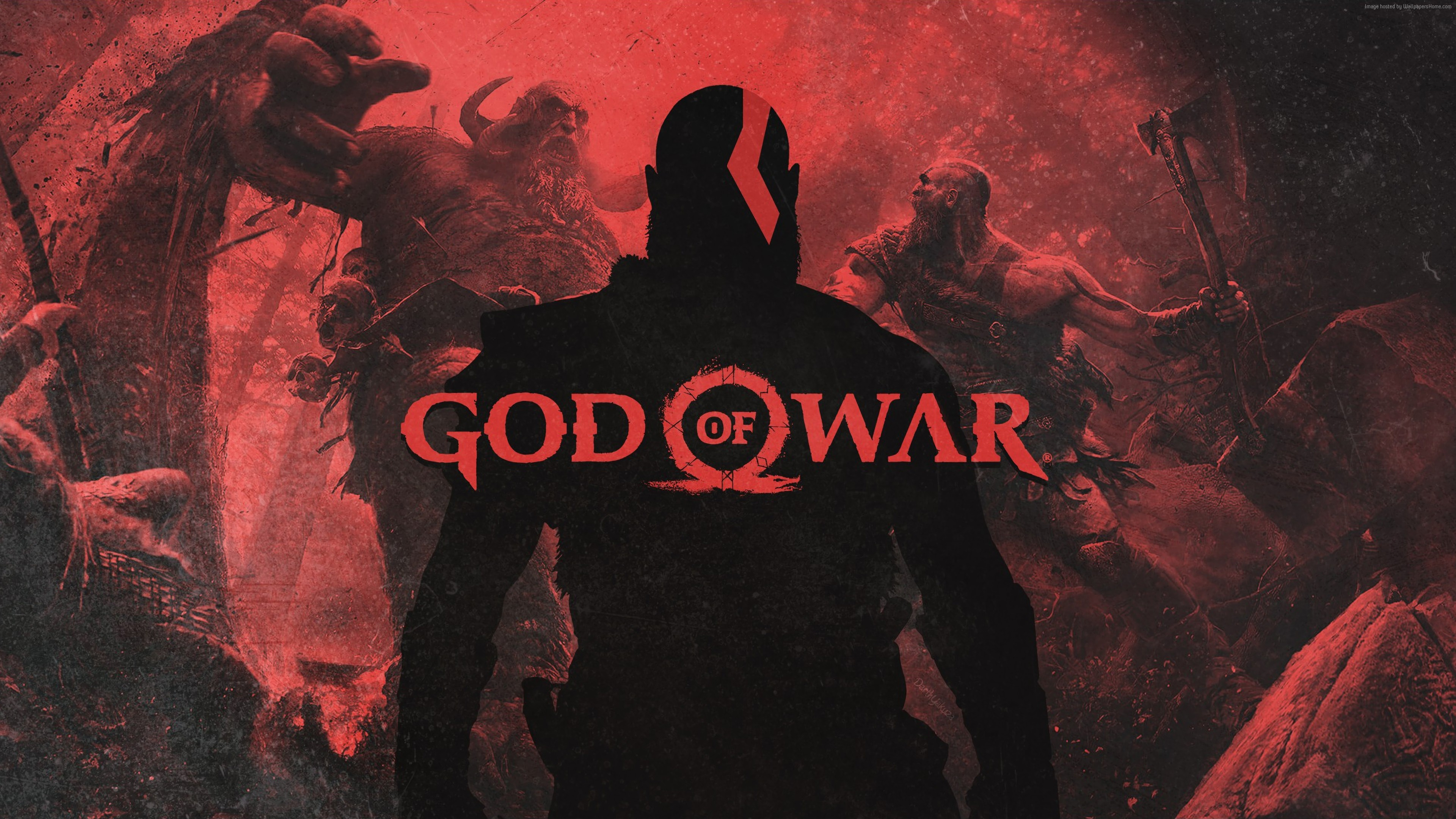 Wallpaper God Of War, poster, 4K, Games