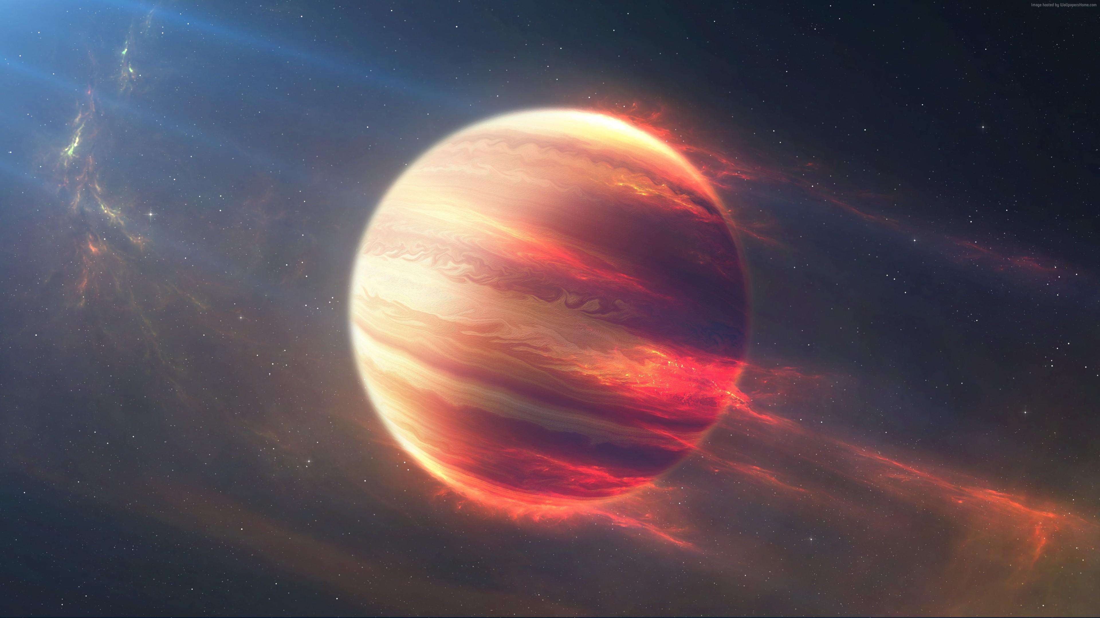 Wallpaper Jupiter Space Stars 4K Art 4k