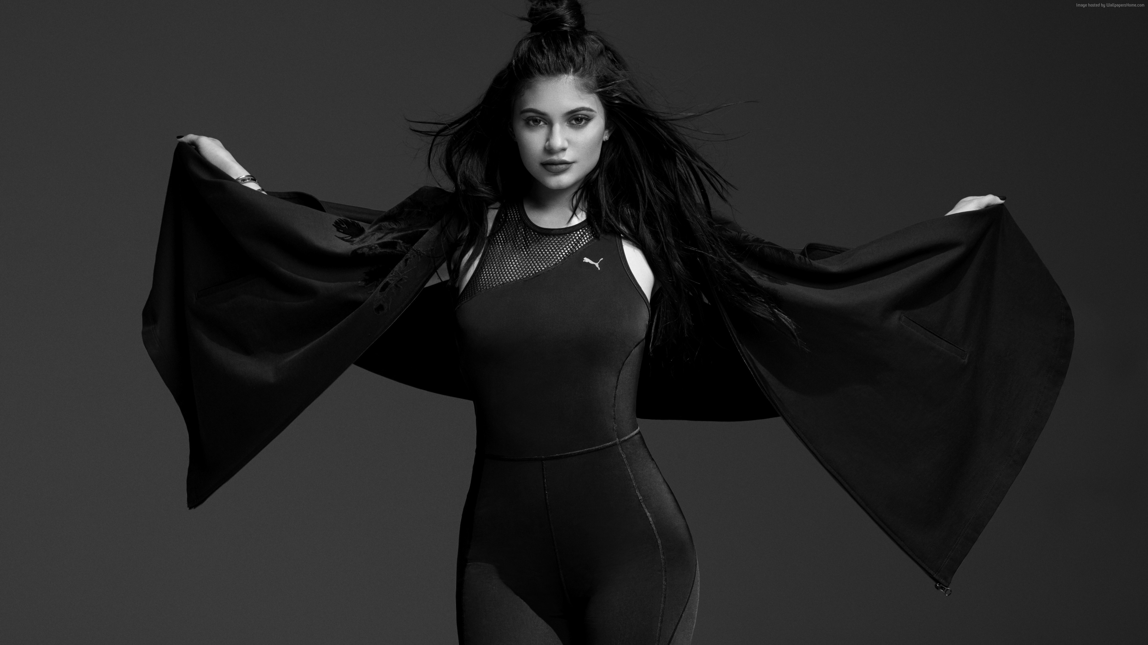 Wallpaper Kylie Jenner Puma Black 6k Celebrities