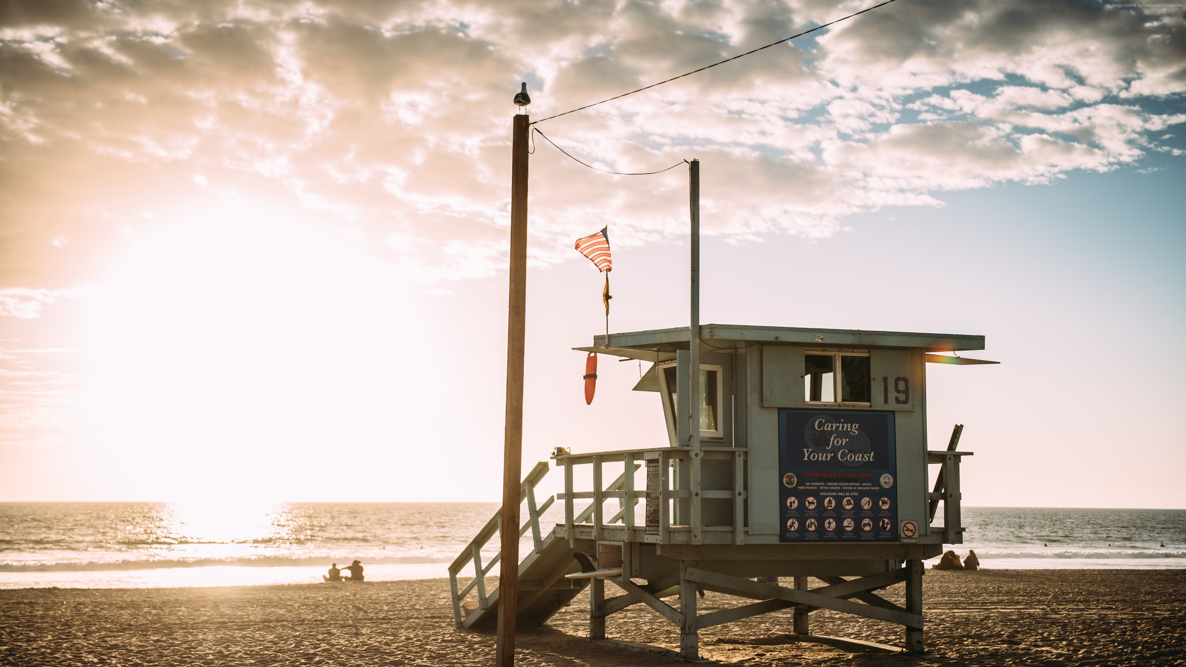 Wallpaper Los Angeles, beach, USA, 6K, Travel