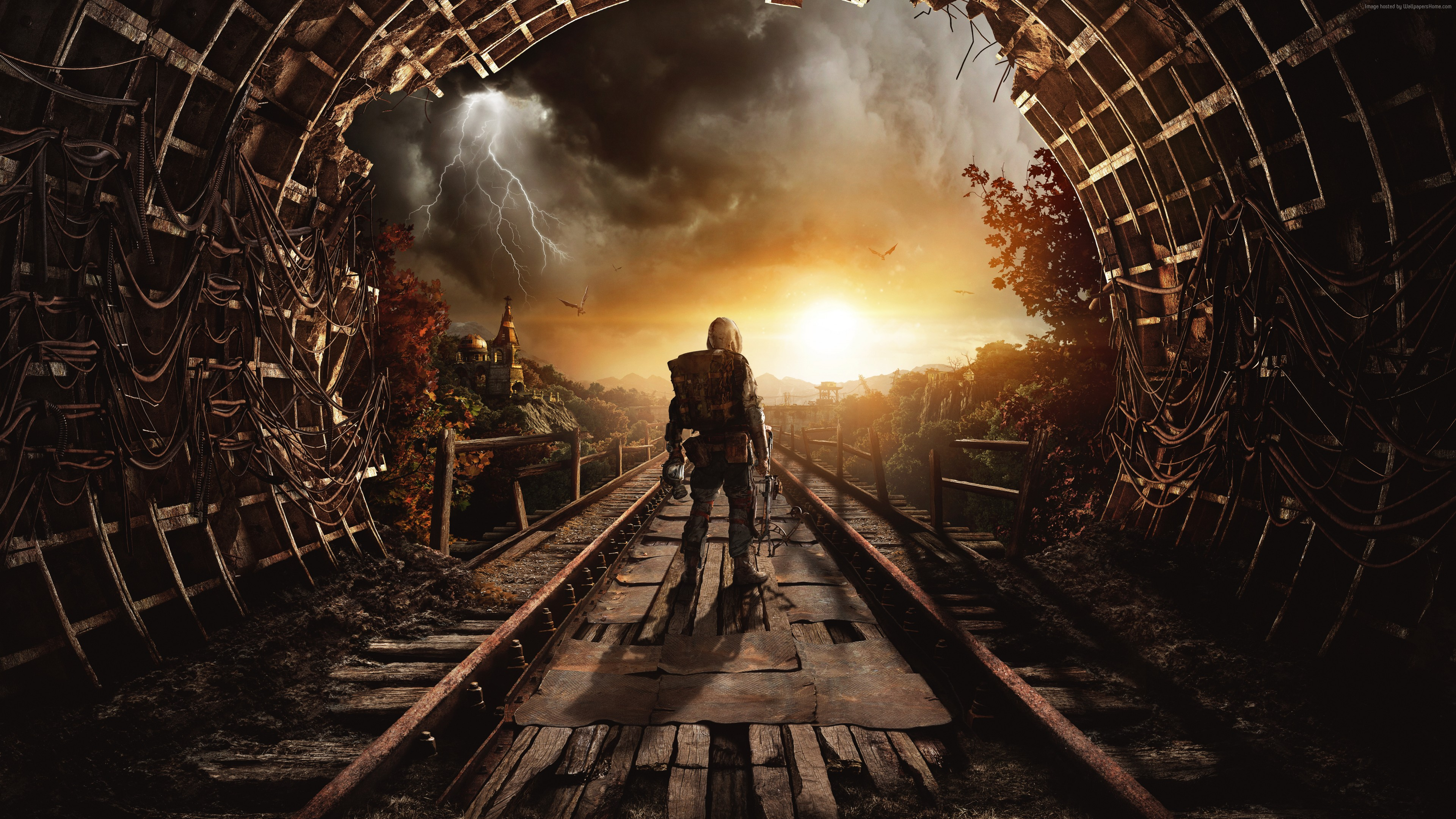 Wallpaper Metro Exodus, Autumn, Gamescom 2018, artwork, poster, 7K, Games