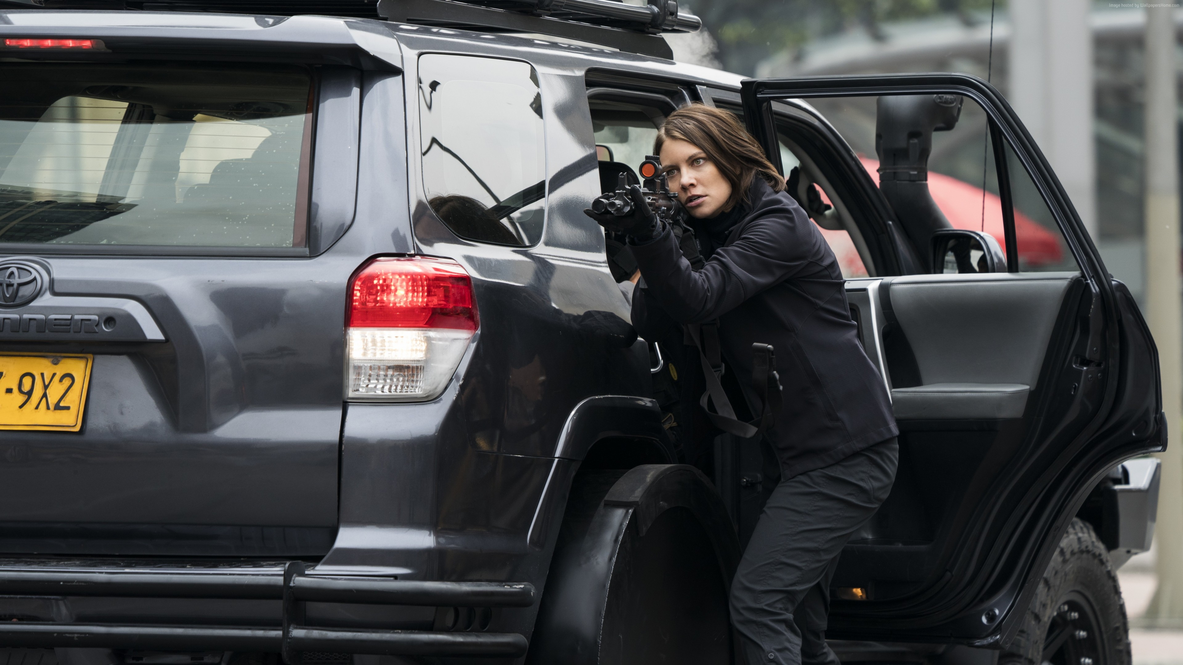 Wallpaper Mile 22, Lauren Cohan, 6k, Movies