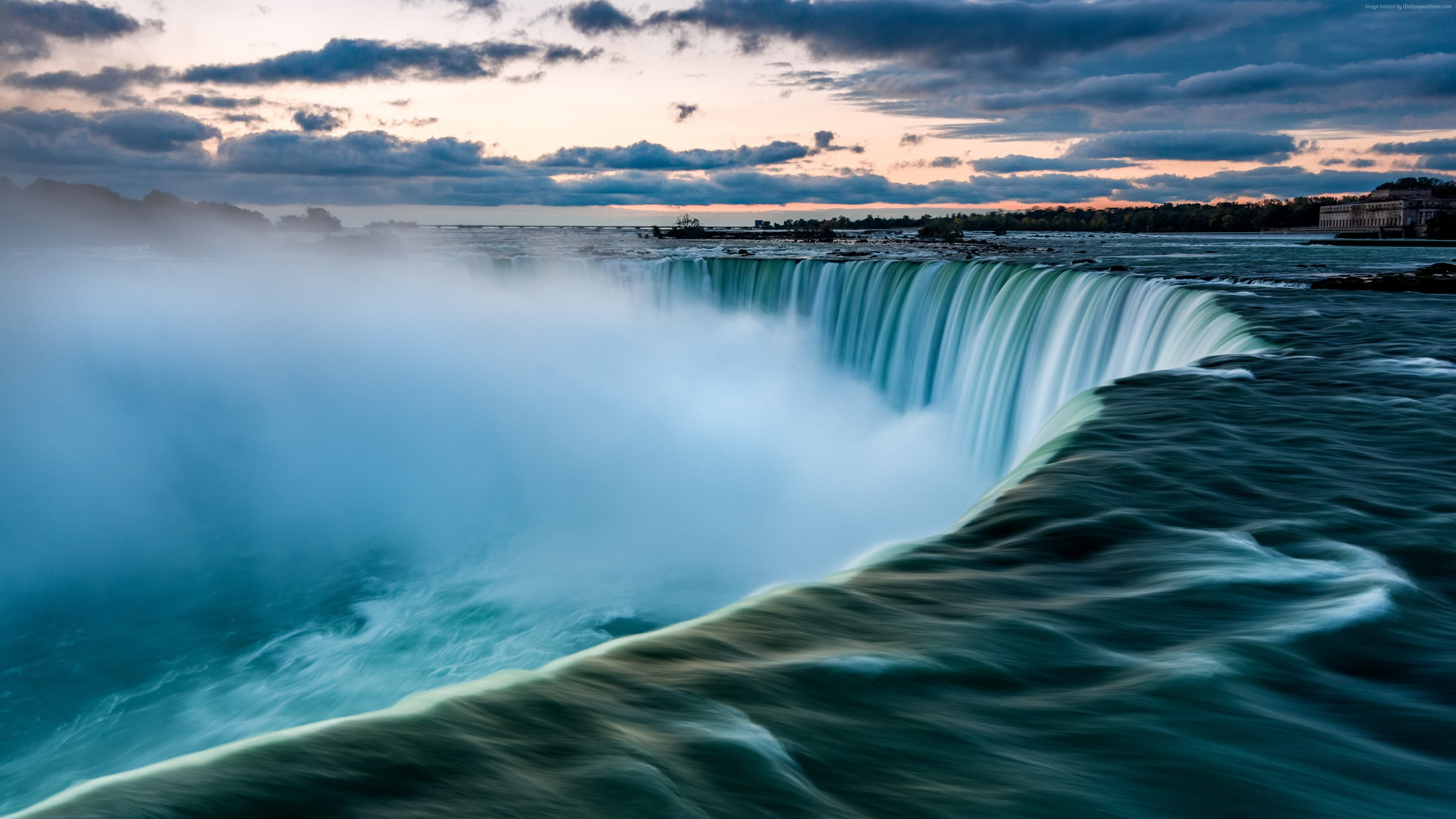 Wallpaper Niagara Falls, Waterfall, 7K, Travel