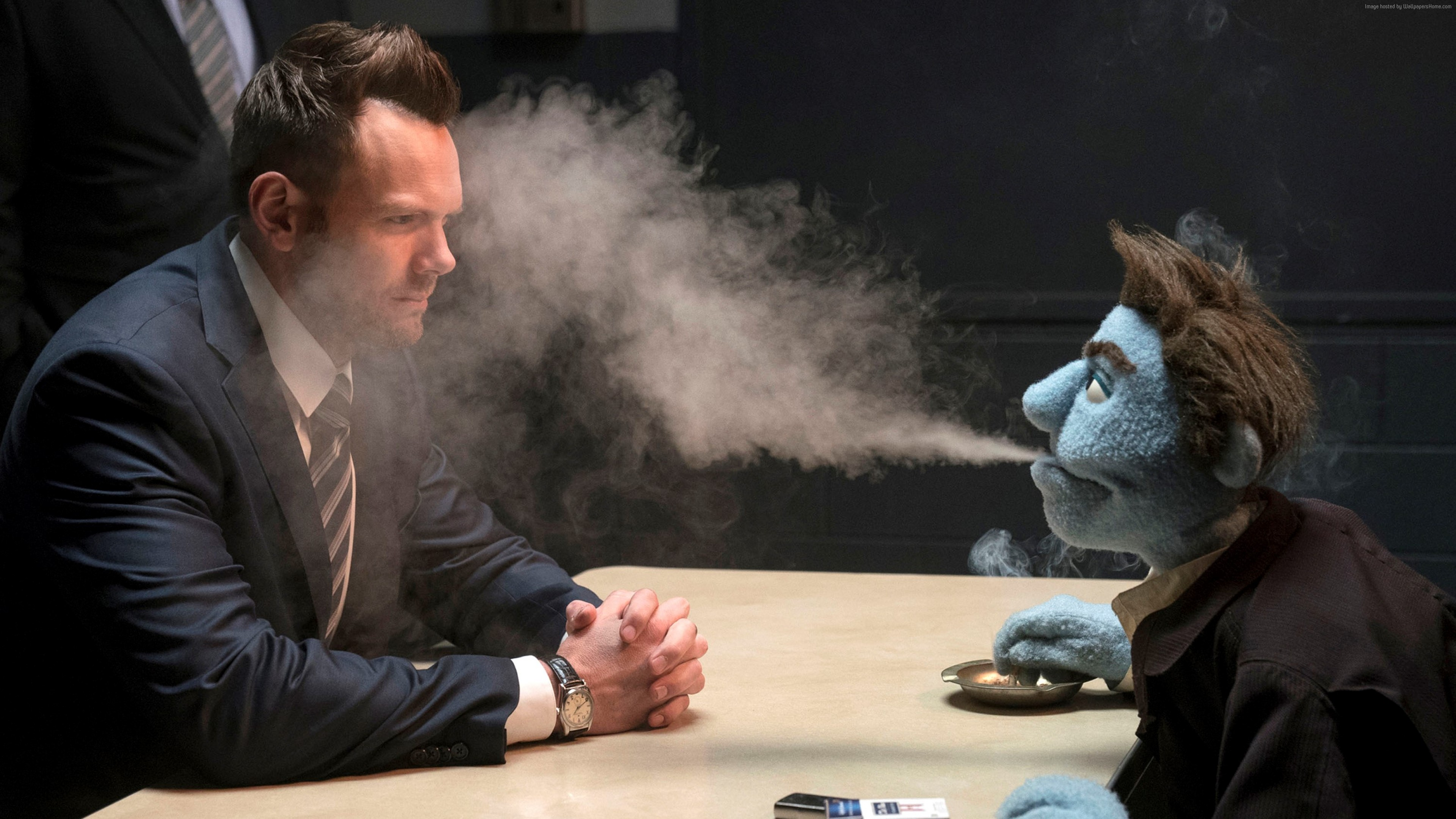 Wallpaper The Happytime Murders, Joel McHale, 4K, Movies