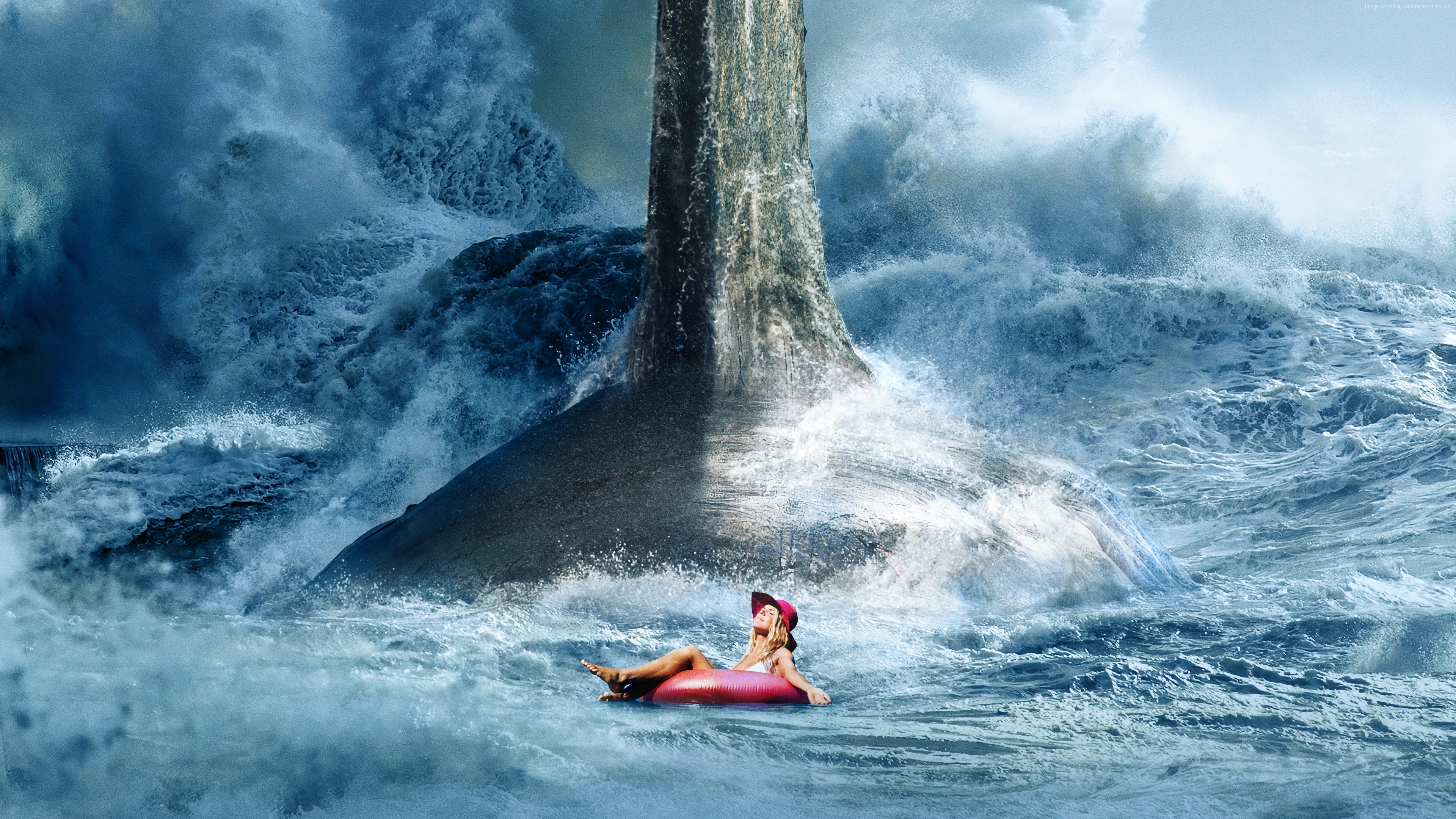 Wallpaper The Meg, poster, 4K, Movies