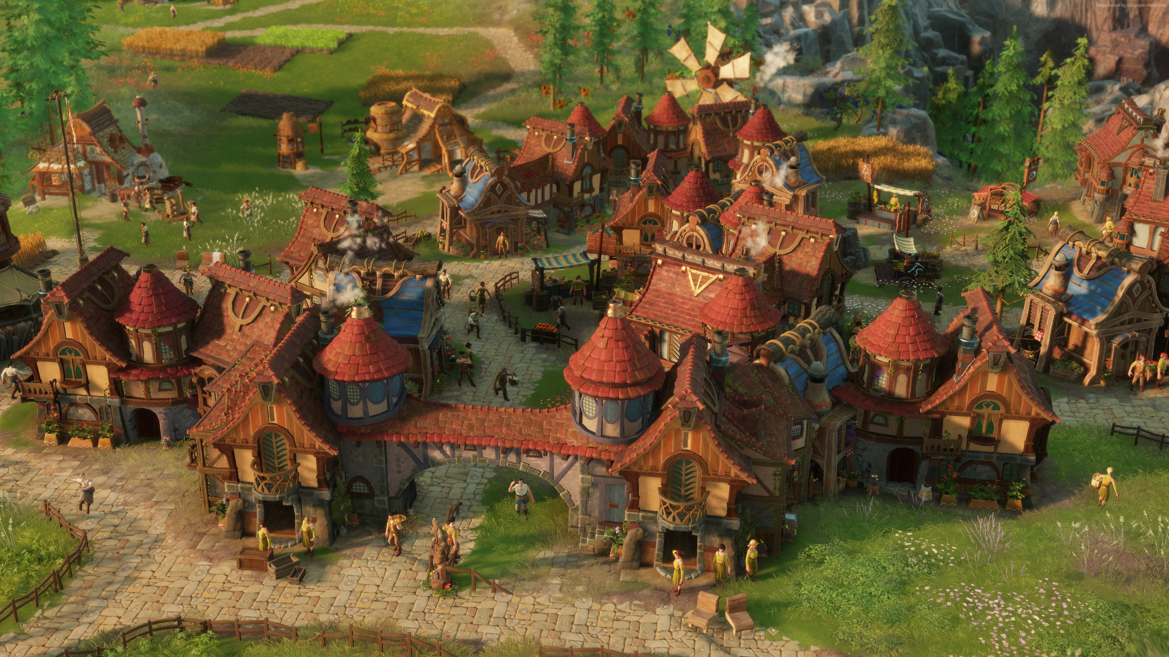 Wallpaper The Settlers 2019, Gamescom 2018, screenshot, 4K, Games