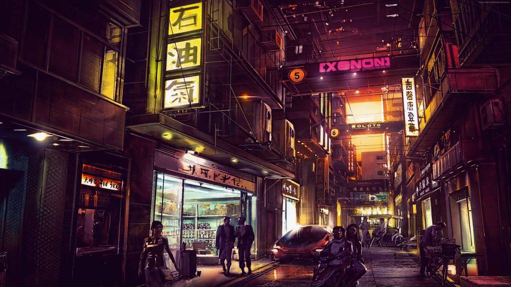 Wallpaper City Night Futuristic 4k Art Wallpaper