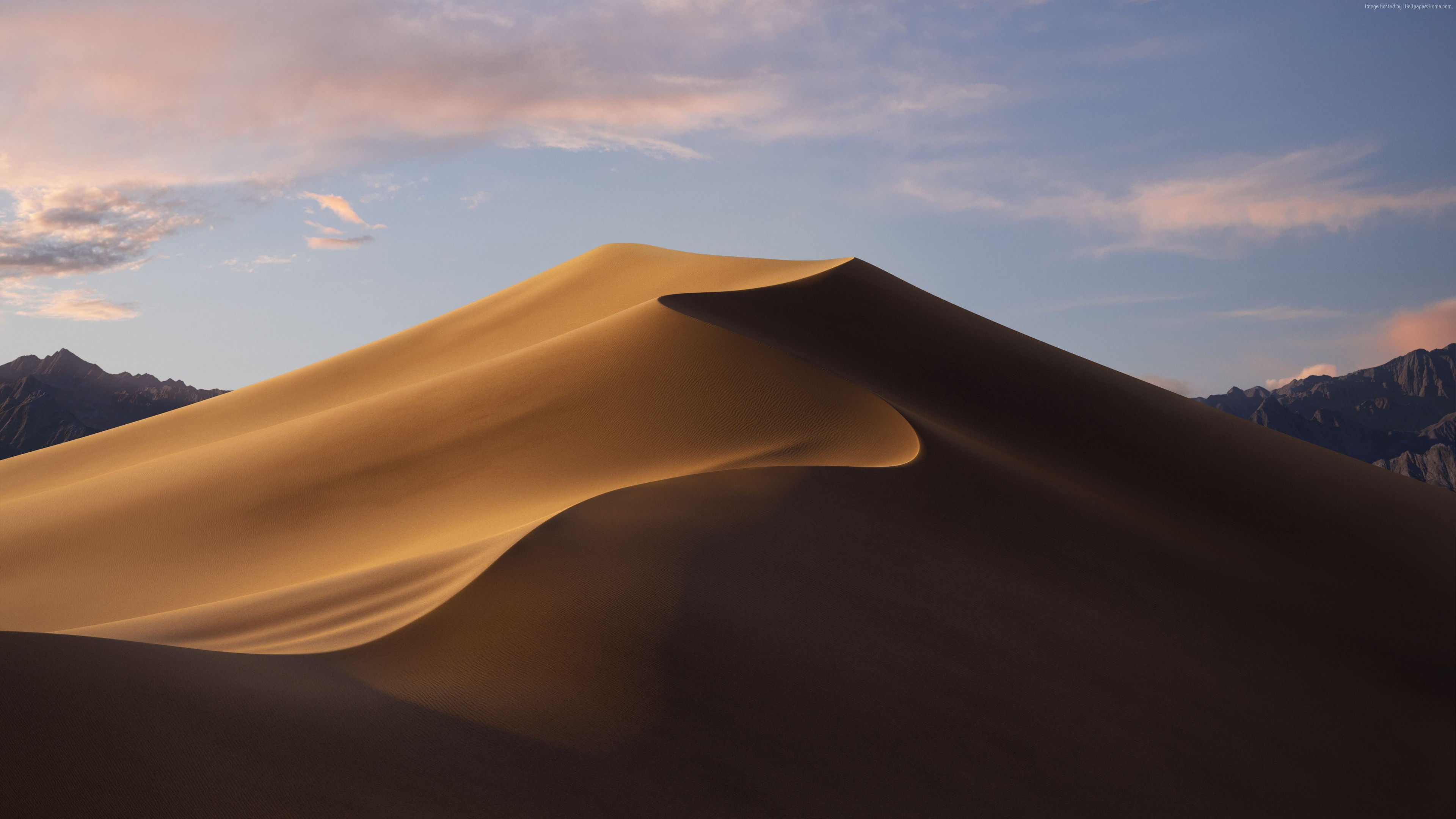 Wallpaper macOS Mojave, Day, Dunes, WWDC 2018, 5K, OS