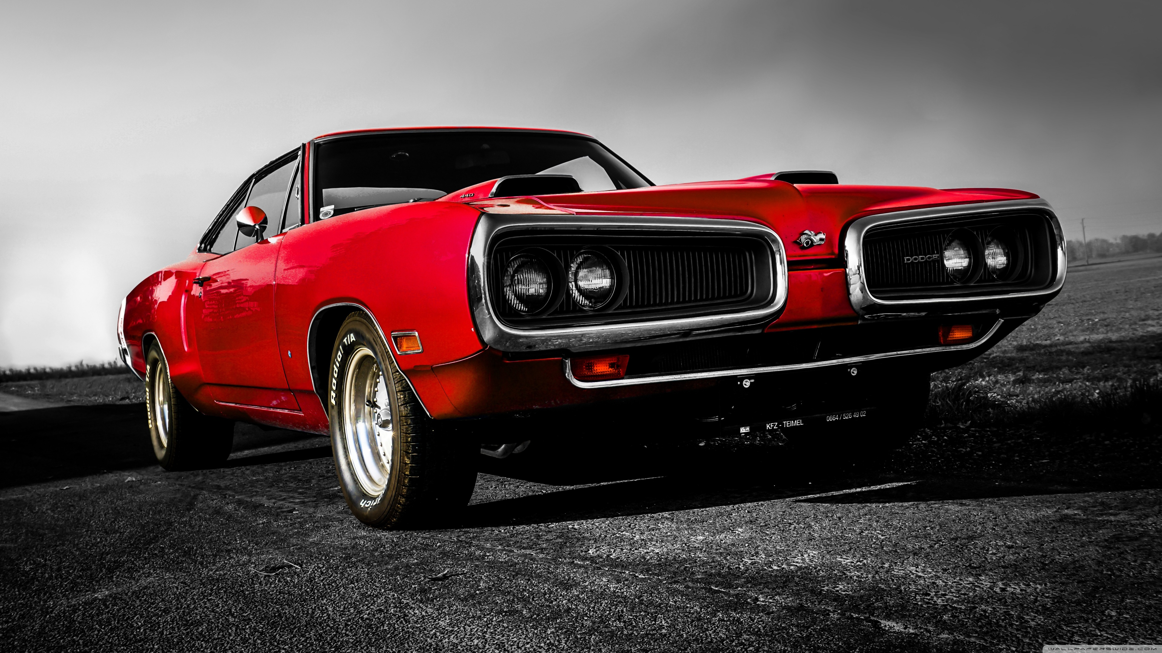 dodge 440 classic car wallpaper 3840×2160