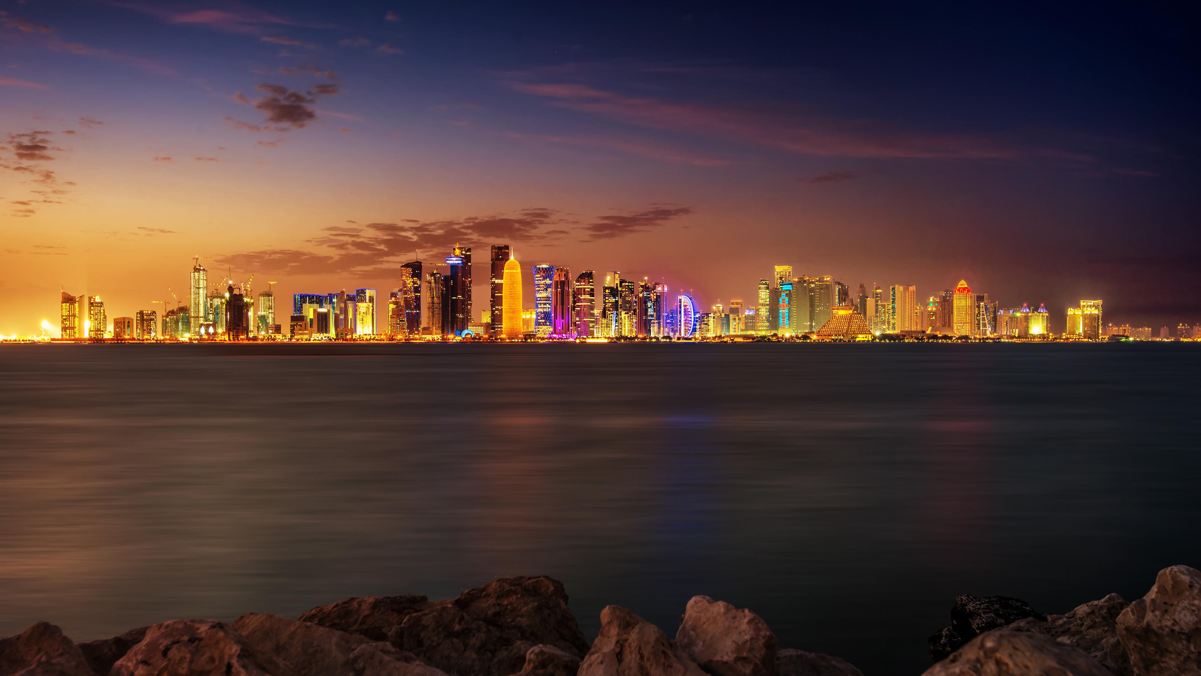 Doha City 4K Wallpaper