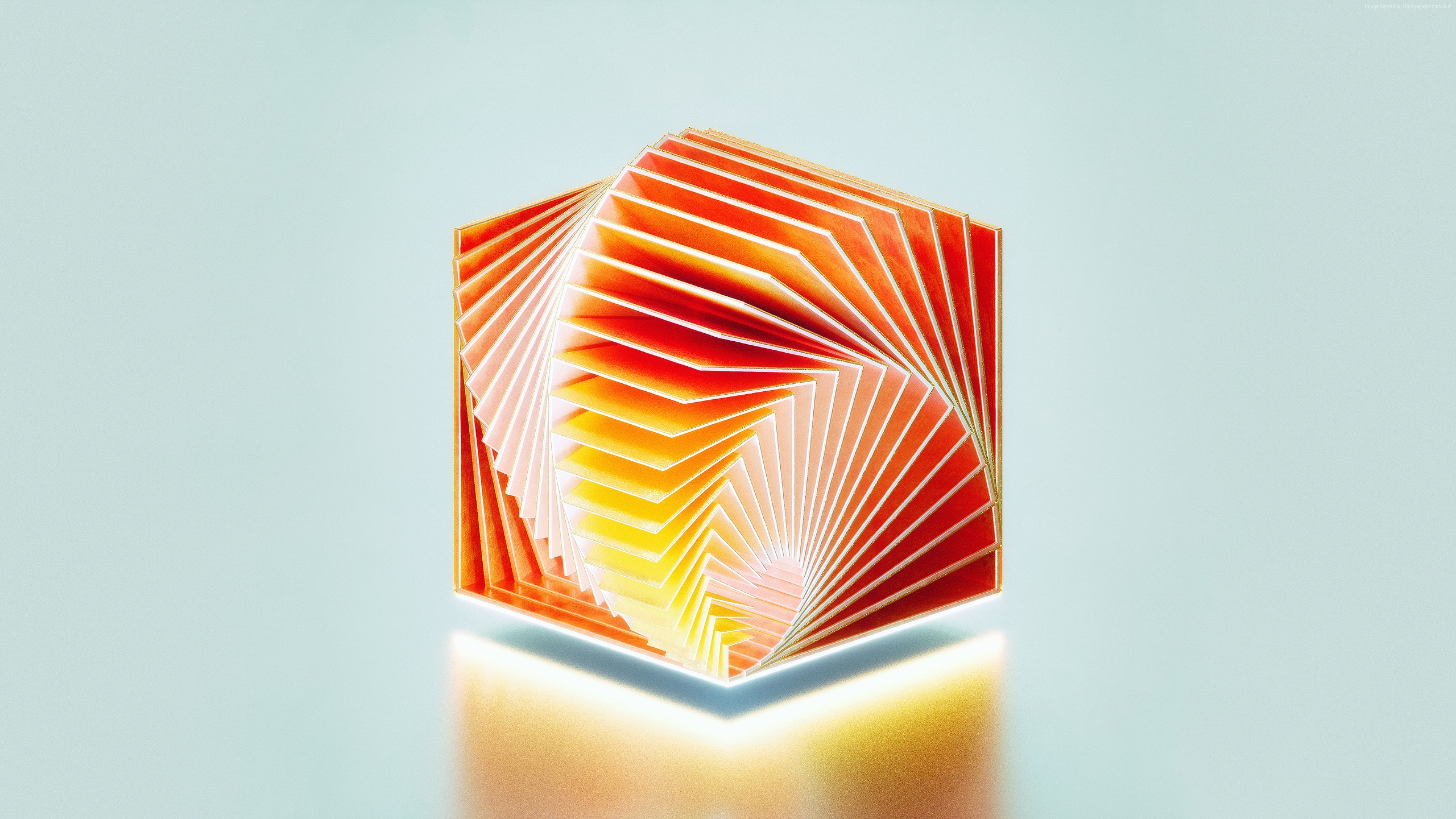 Wallpaper HD, 3D, Medaltations, cube, abstract, OS
