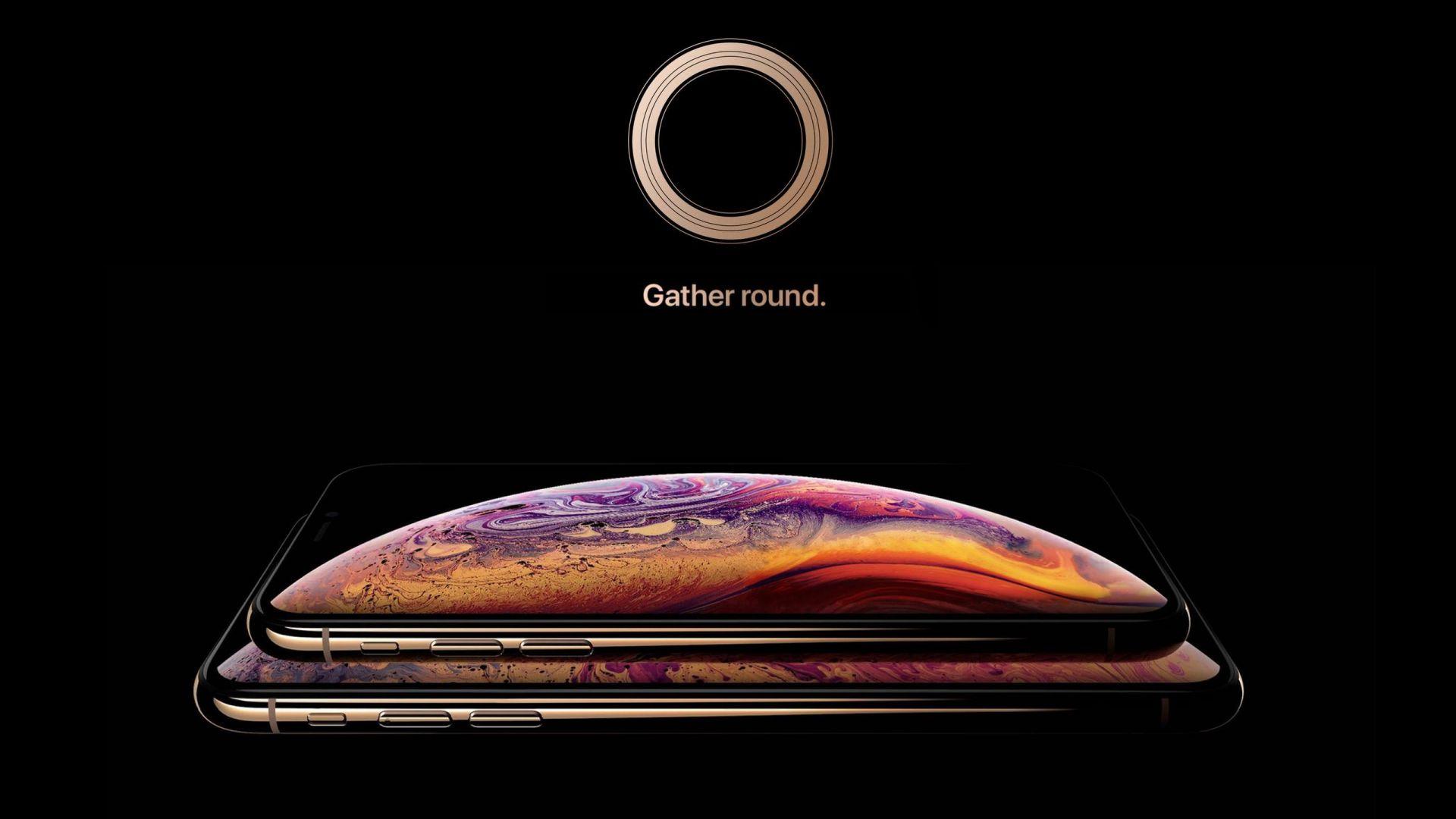iPhone XS gold ,smartphone, HD