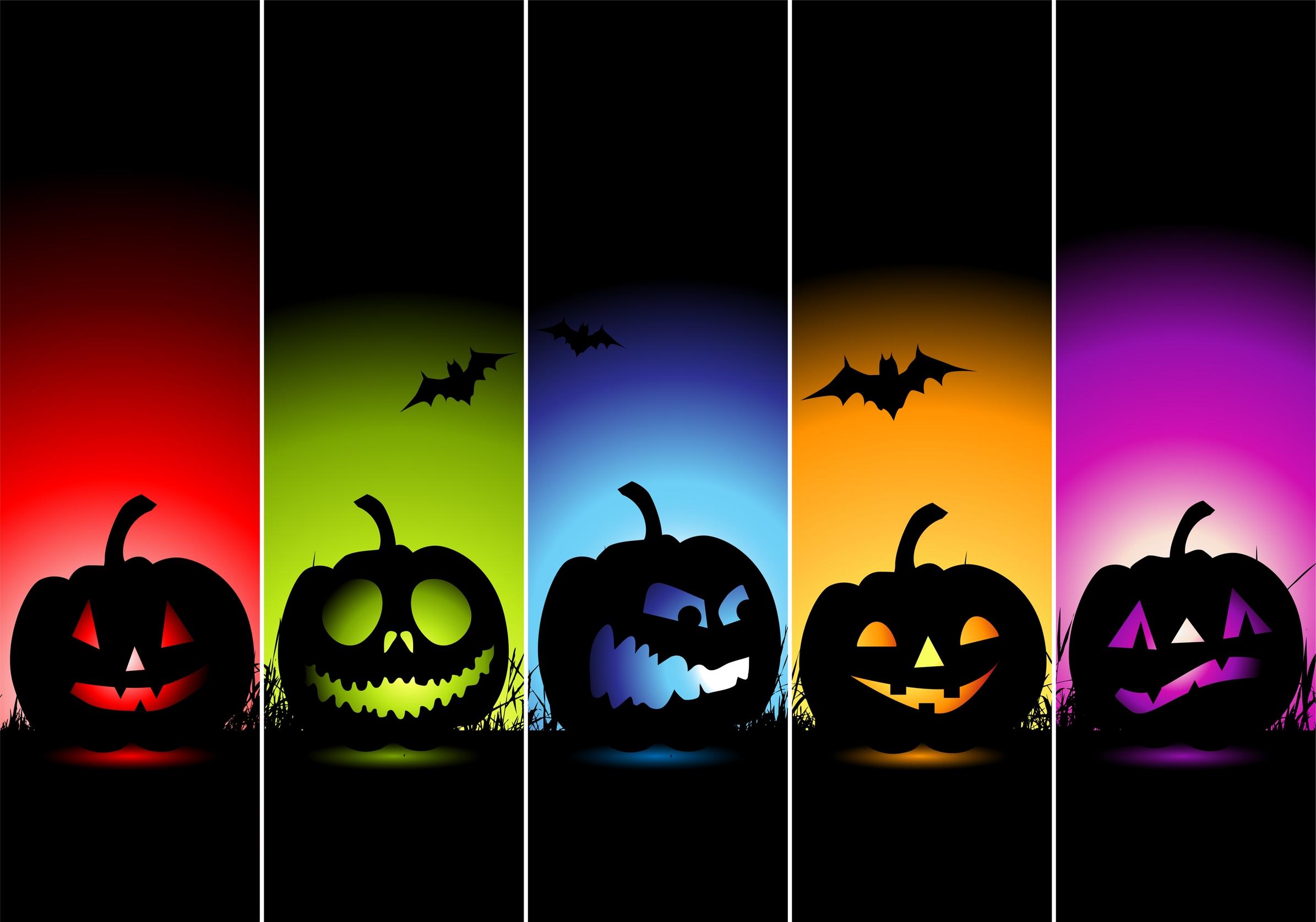 Colorful Halloween Horor Wallpaper