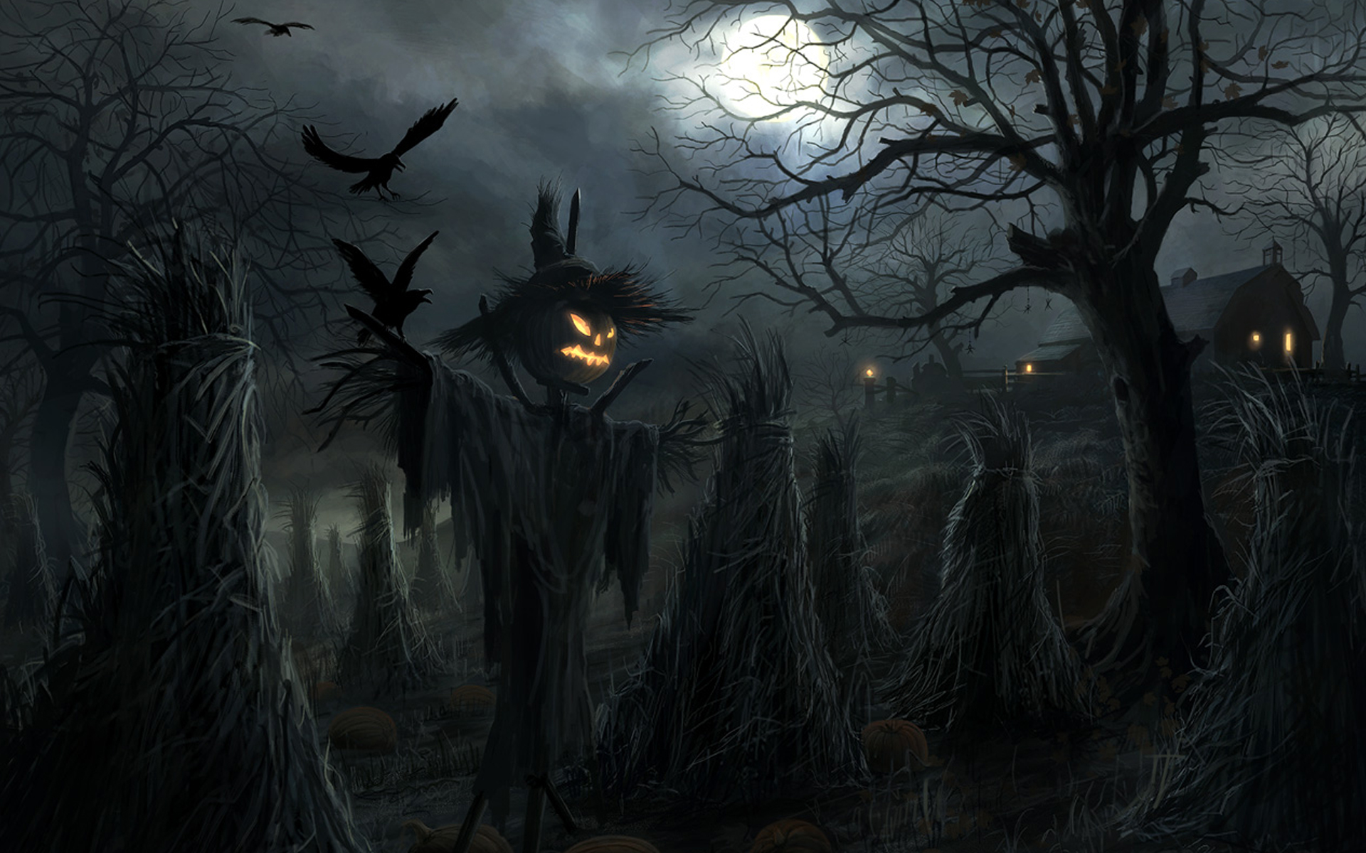 Ghost Scarecrow Halloween Wallpaper for Free