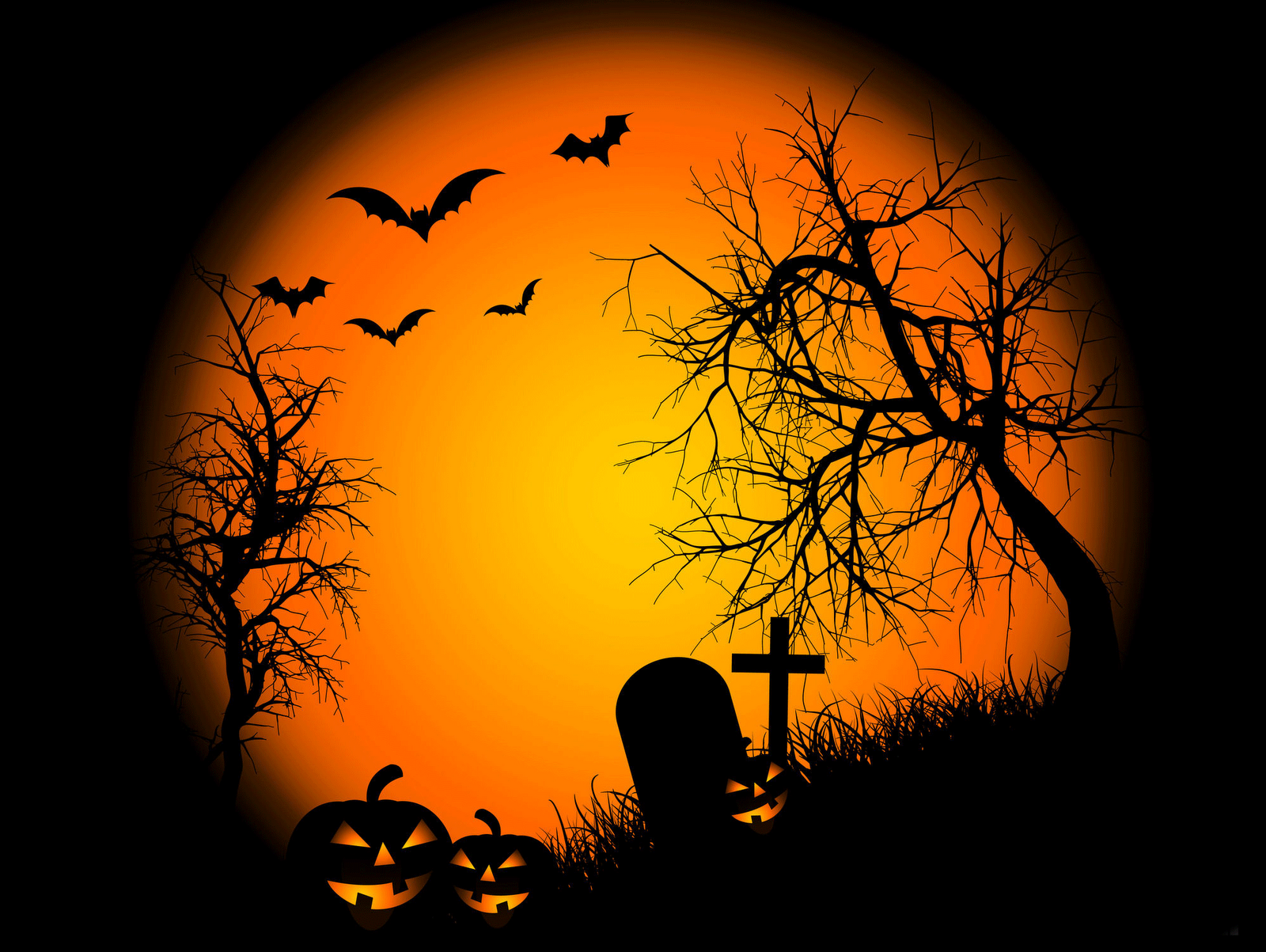 Graveyard Halloween Wallpaper