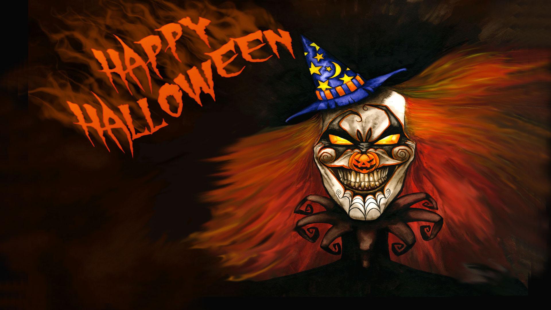Happy Halloween Phantom Clown Wallpaper