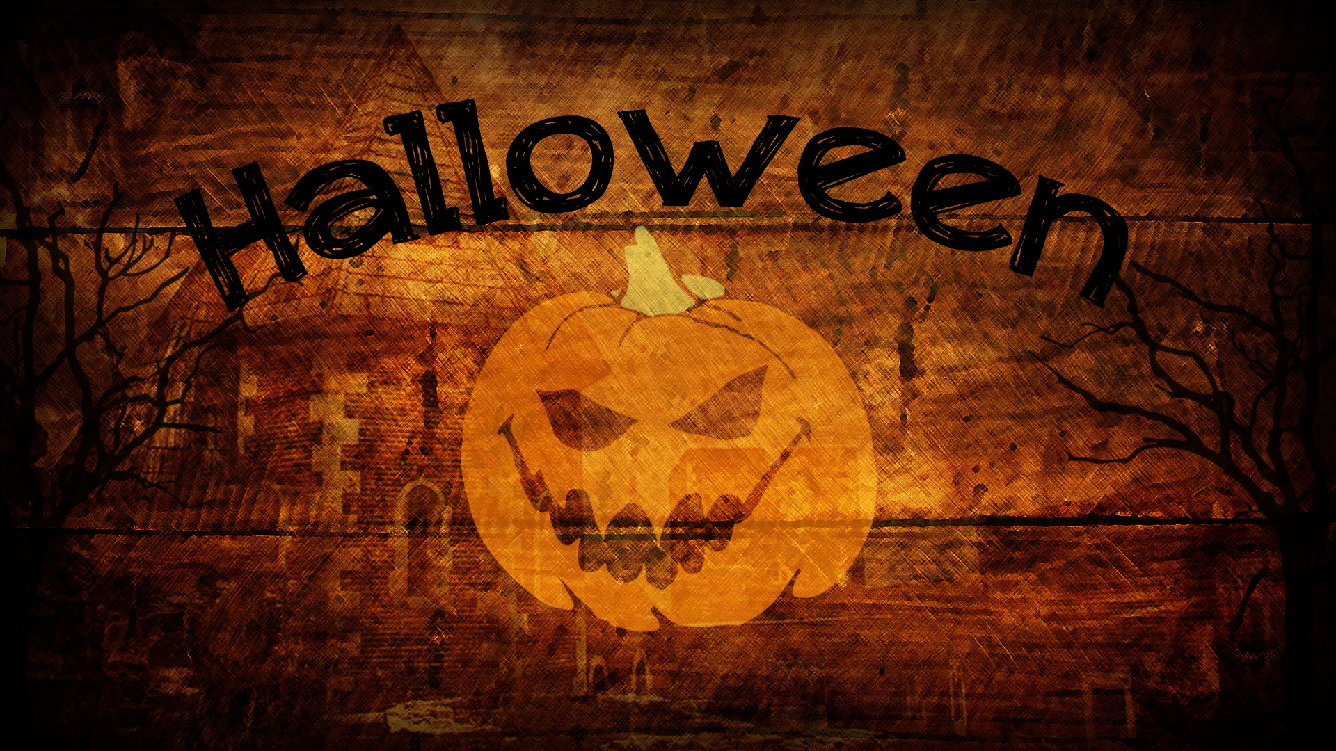 Sinister Pumpkin Head Wallpaper
