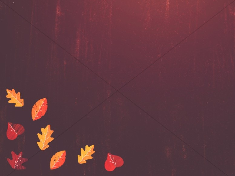 Thanksgiving Leaves Christian Wallpaper