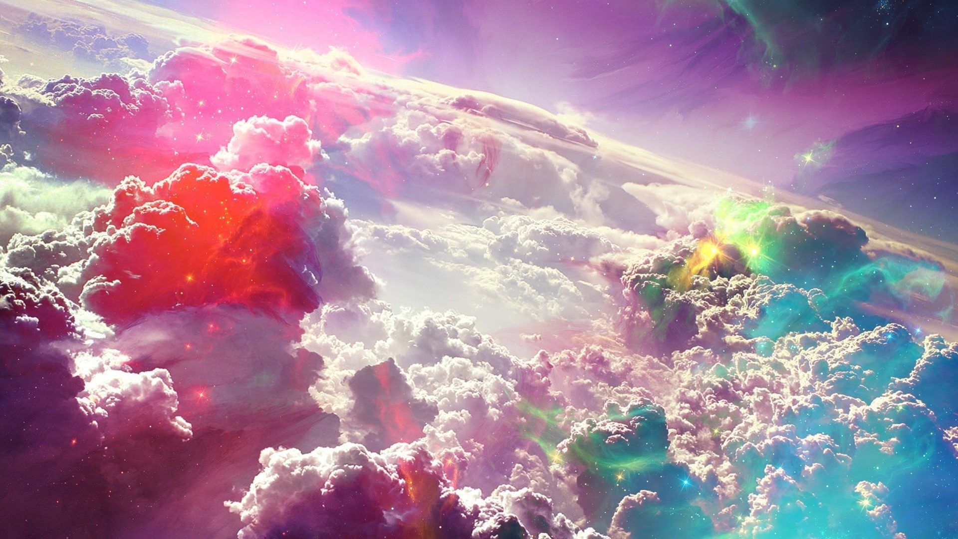 colorful 4k wallpaper Colorful Clouds beautiful atmosphere